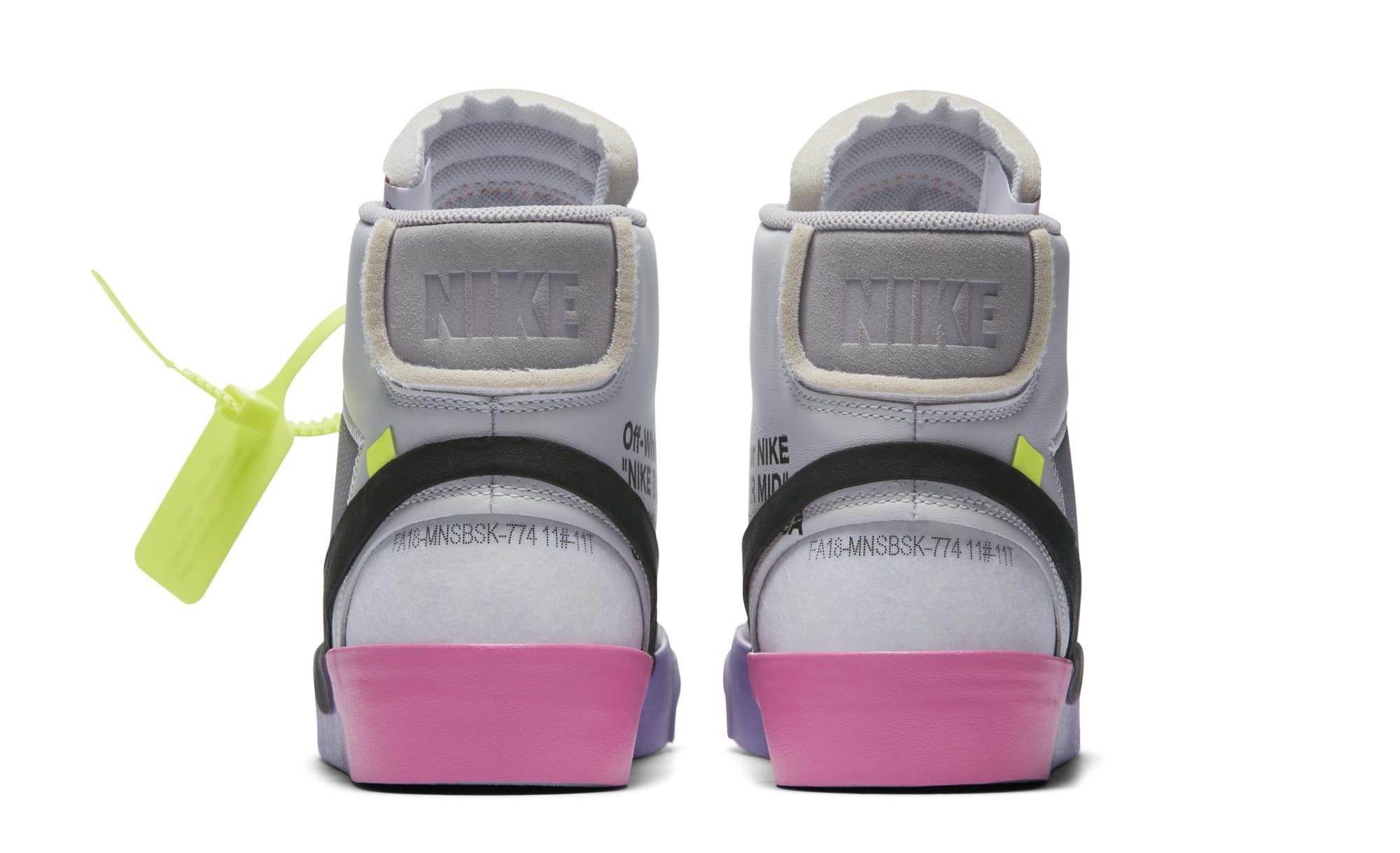 Serena Williams x Off-White x Nike Blazer Mid 'Queen' AA3832-002 (Heel)