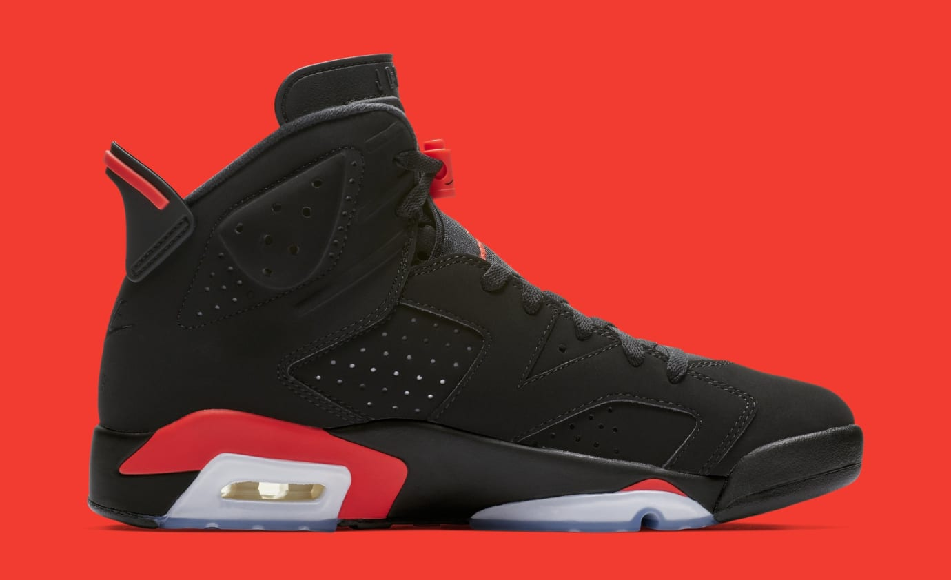 the best attitude 06478 5e706 Air Jordan 6  Black Infrared  384664-060 (Medial)