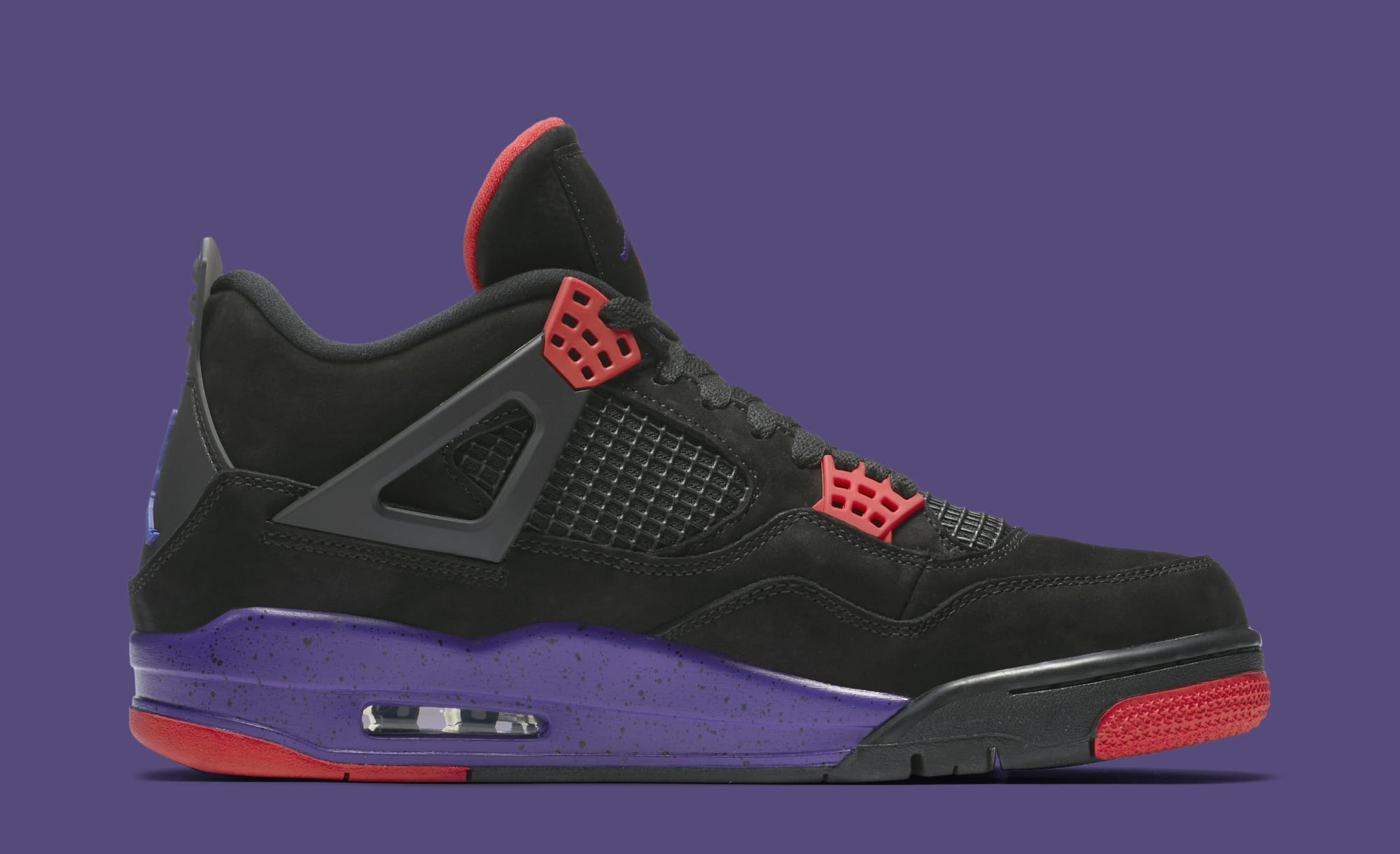 7f413b714dae92 ... online for sale Image via Nike Air Jordan 4 Retro Raptors AQ3816-056  (Medial ...