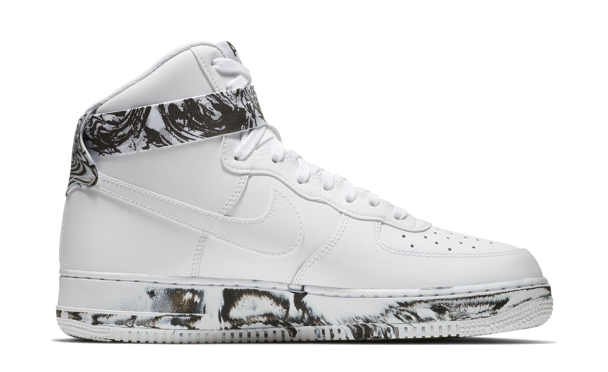 Nike Air Force 1 High 'White/Black/White' AT3293-100 (Medial)