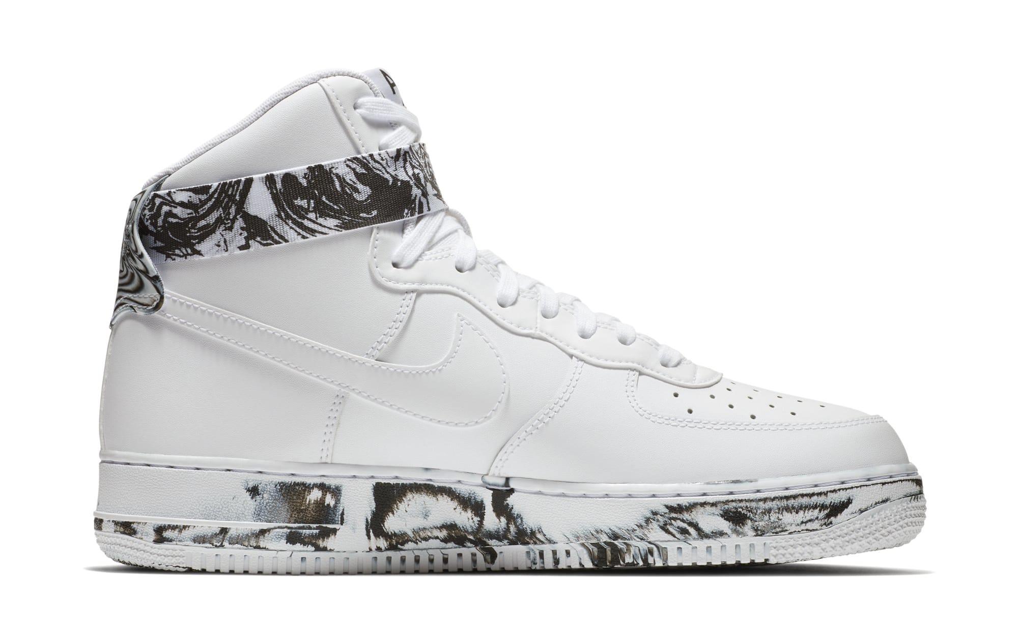 Nike Air Force 1 High 'White/Black/White' AT3293-100 (Medial)