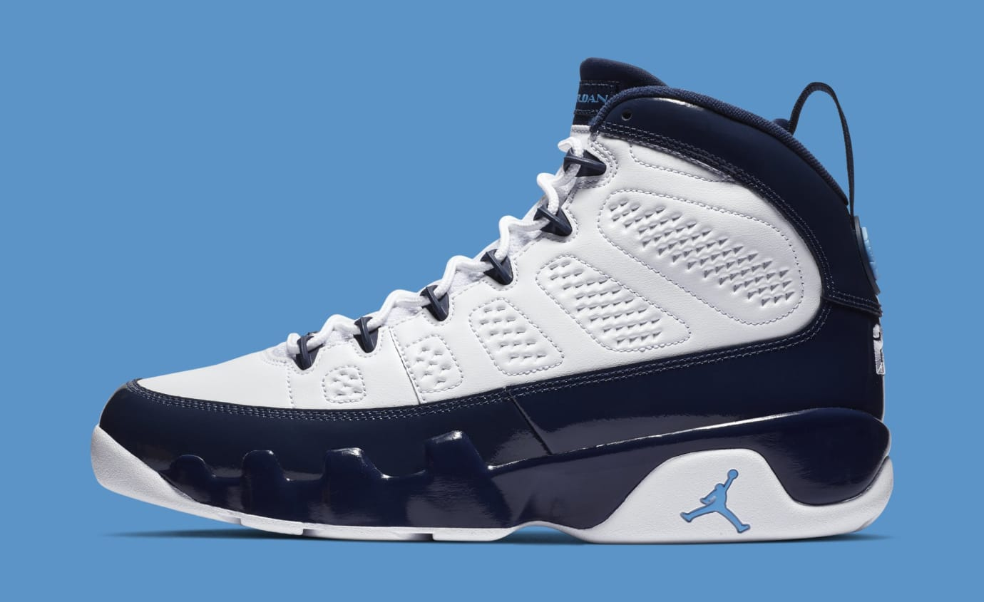 5a679dd5d80c41 Air Jordan 9  White Midnight Navy-University Blue  302370-145 (