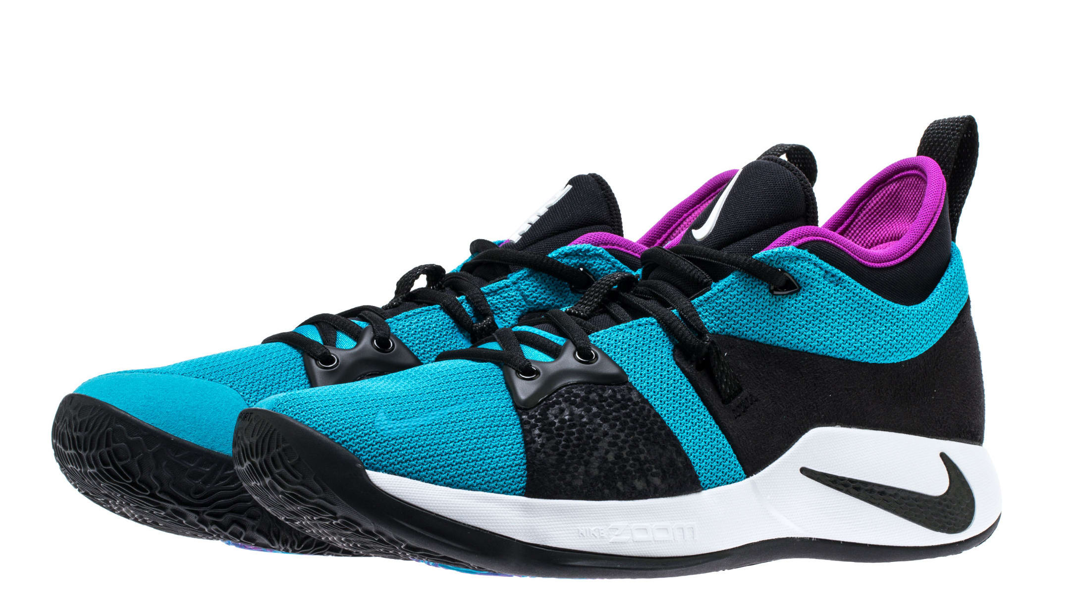 Nike PG2 'Blue Lagoon/Hyper Violet/White' AJ2039-402 (Pair)