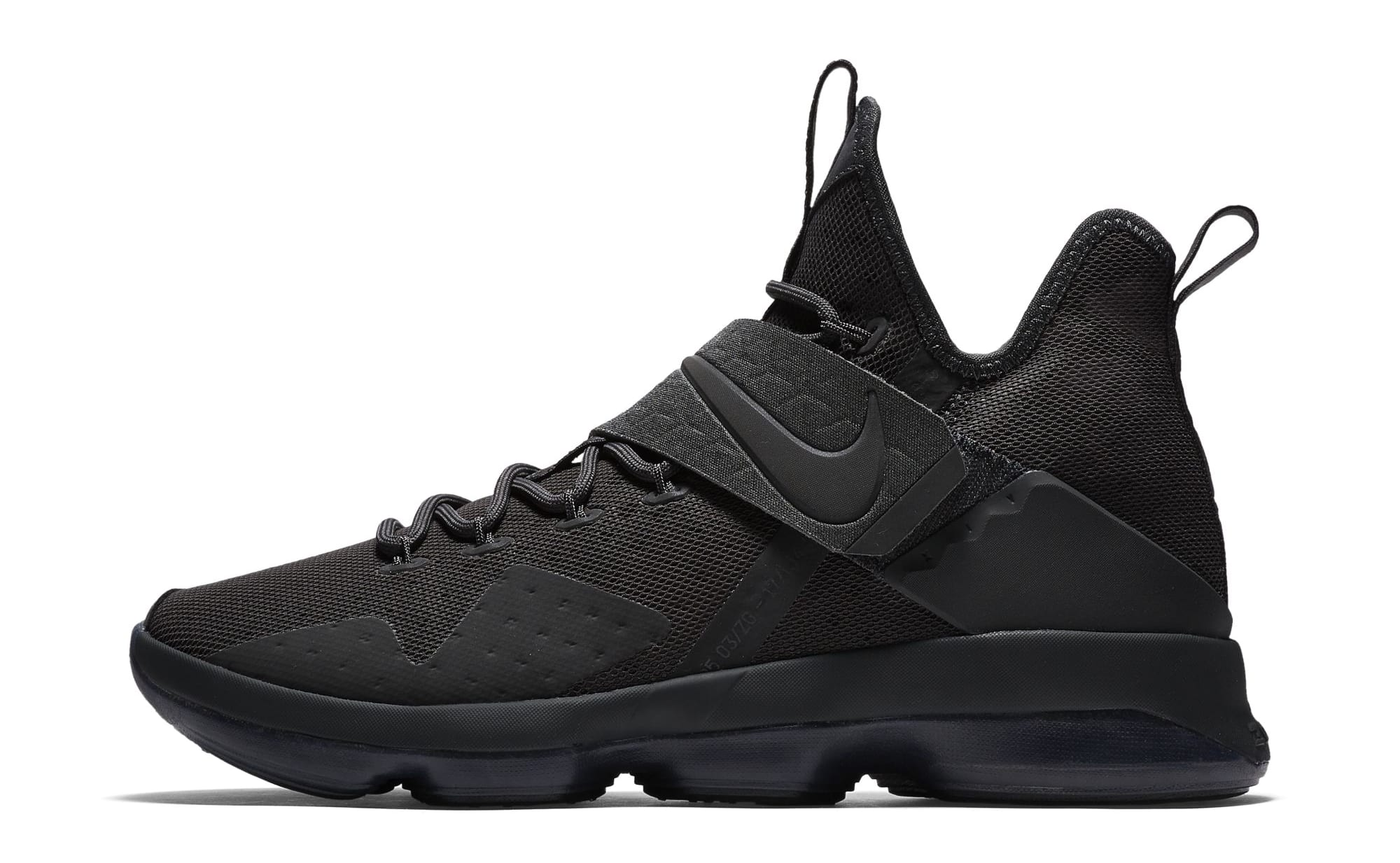 e0f7287e511 Nike LeBron 14 Blackout Zero Dark Thirty-23 Release Date 852402-002