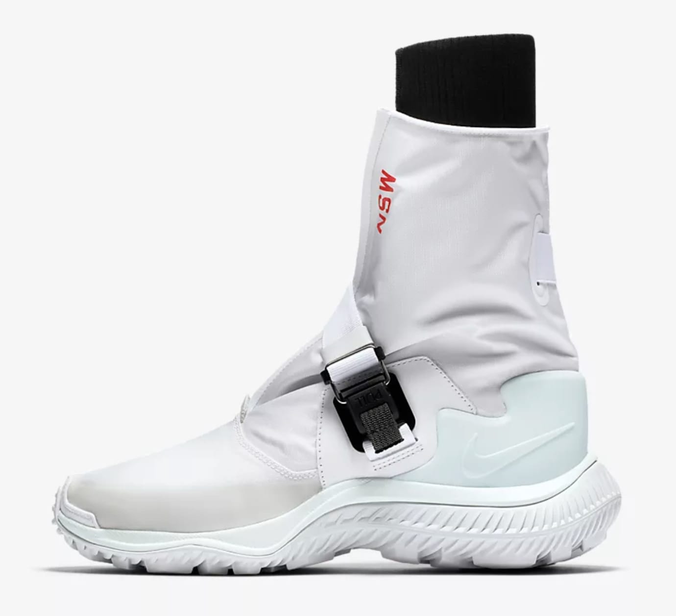 Nike Gaiter Women's Boot White/Black/Pure Platinum/Barely Green AA0528-100 (Lateral)