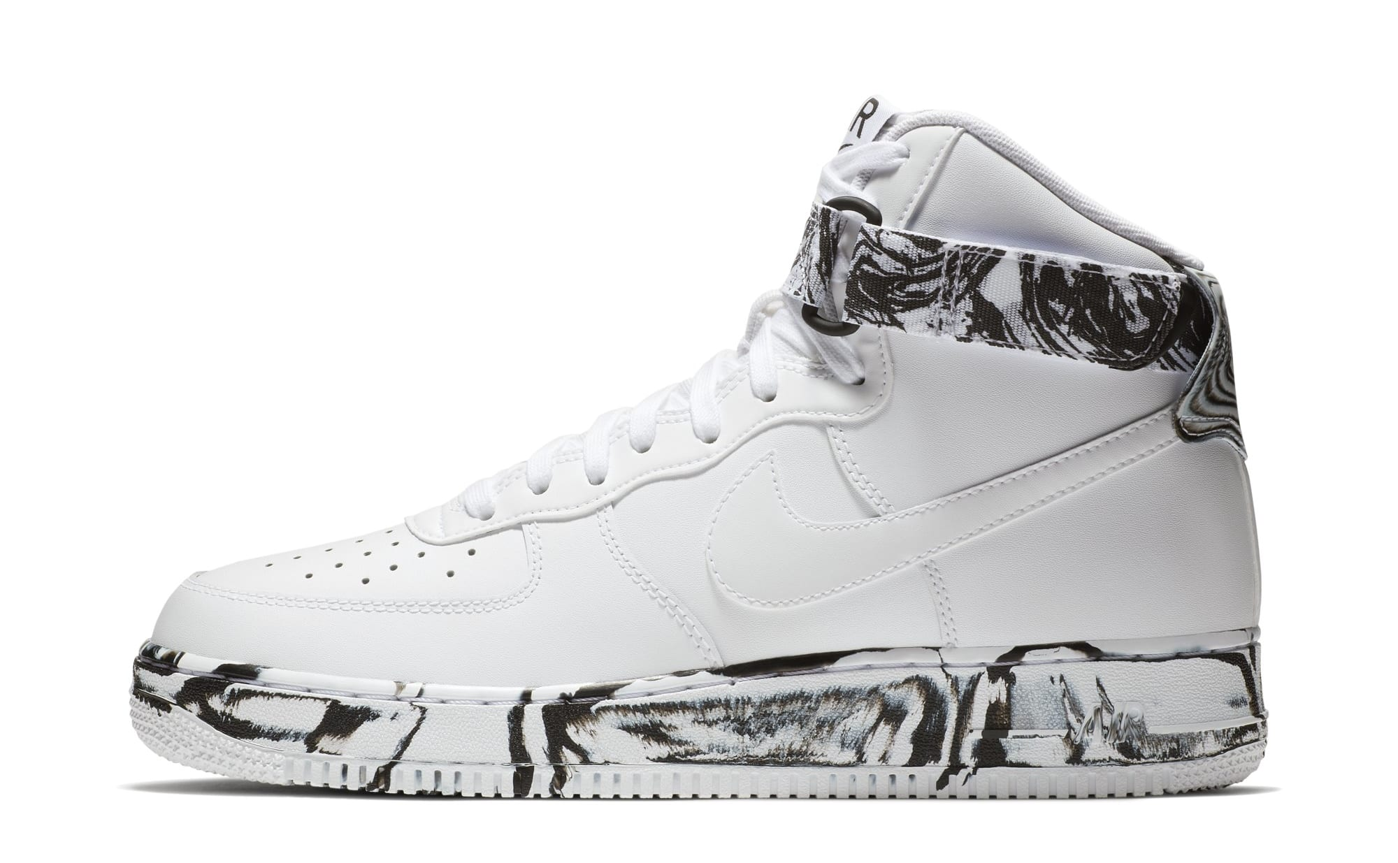 Nike Air Force 1 High 'White/Black/White' AT3293-100 (Lateral)