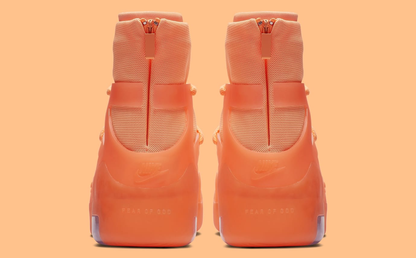 Nike Air Fear of God 1 'Orange Pulse' AR4237-800 Heel