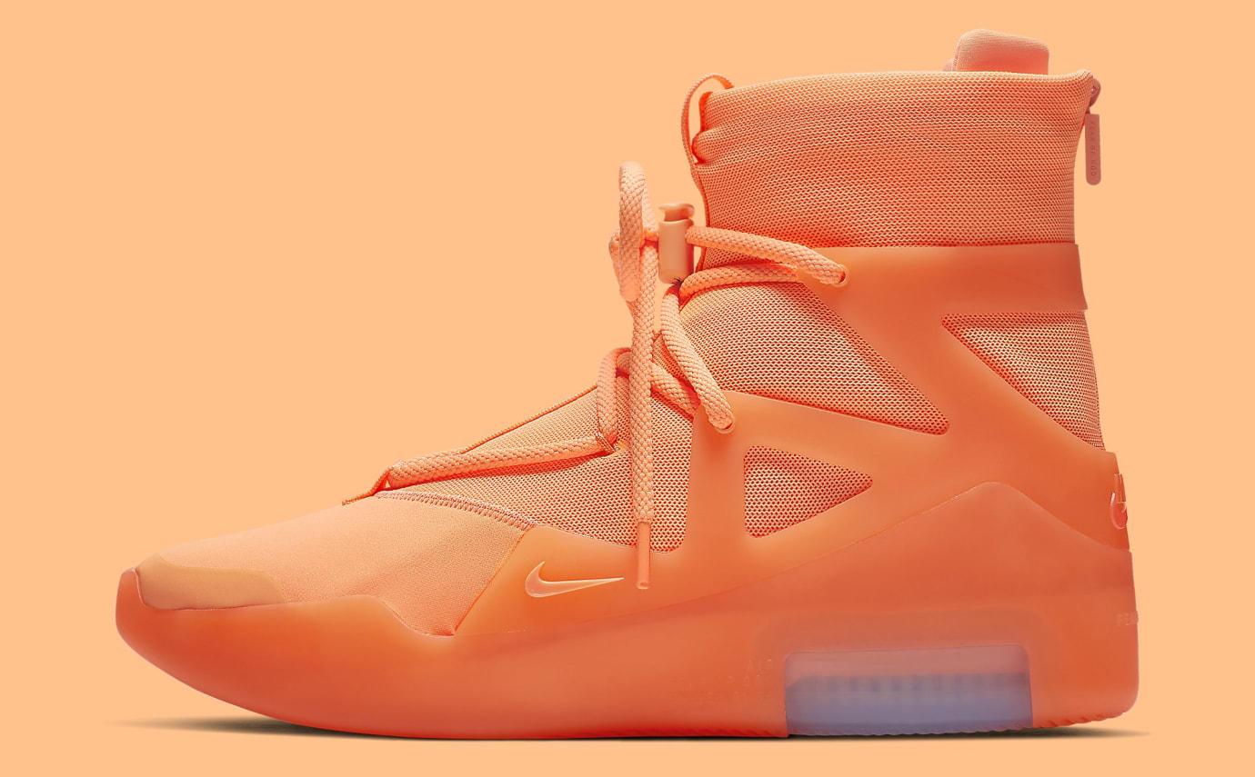 Nike Air Fear of God 1 'Orange Pulse' AR4237-800 Lateral