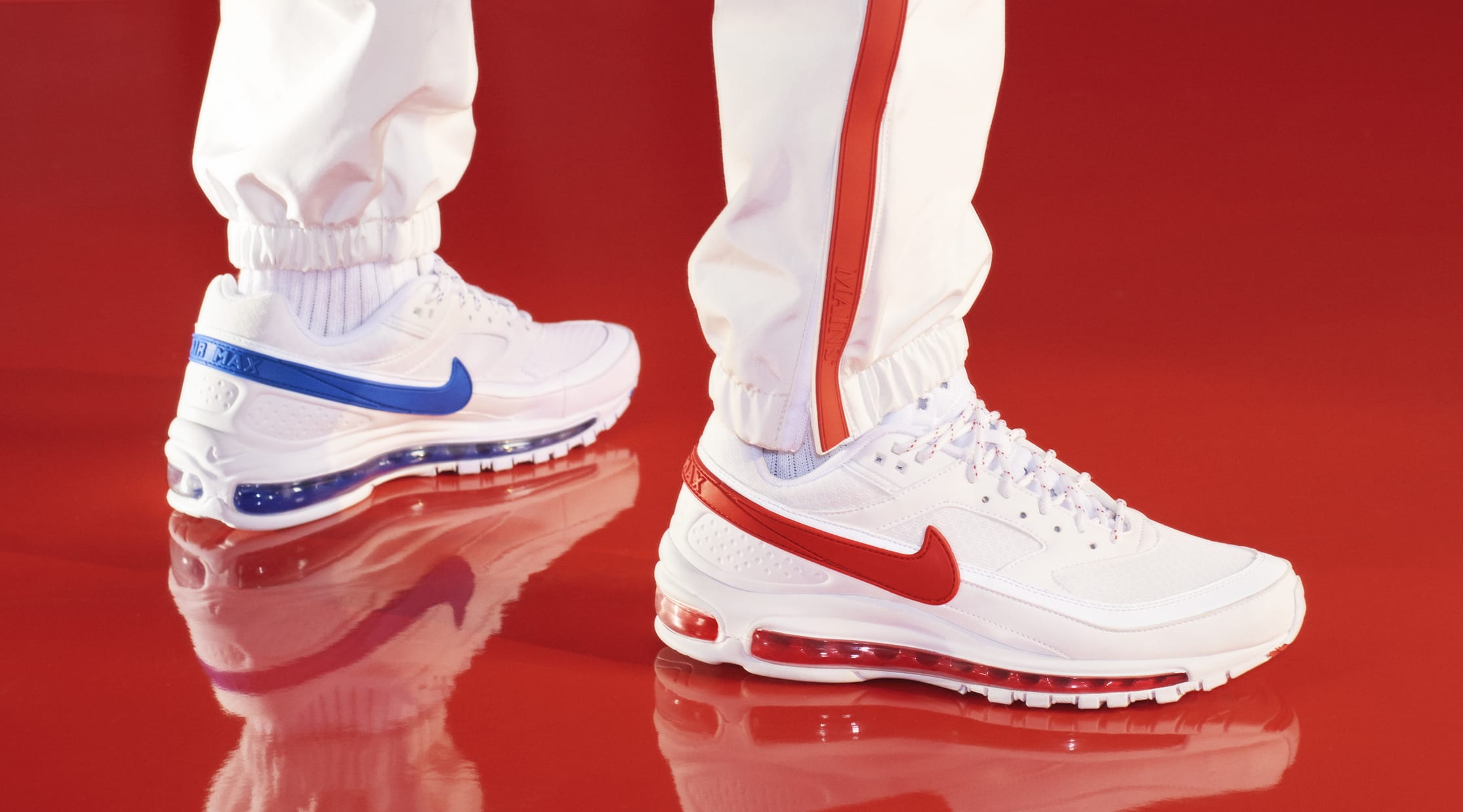 Skepta x Nike Air Mad 97 BW SK (On-Foot Red)
