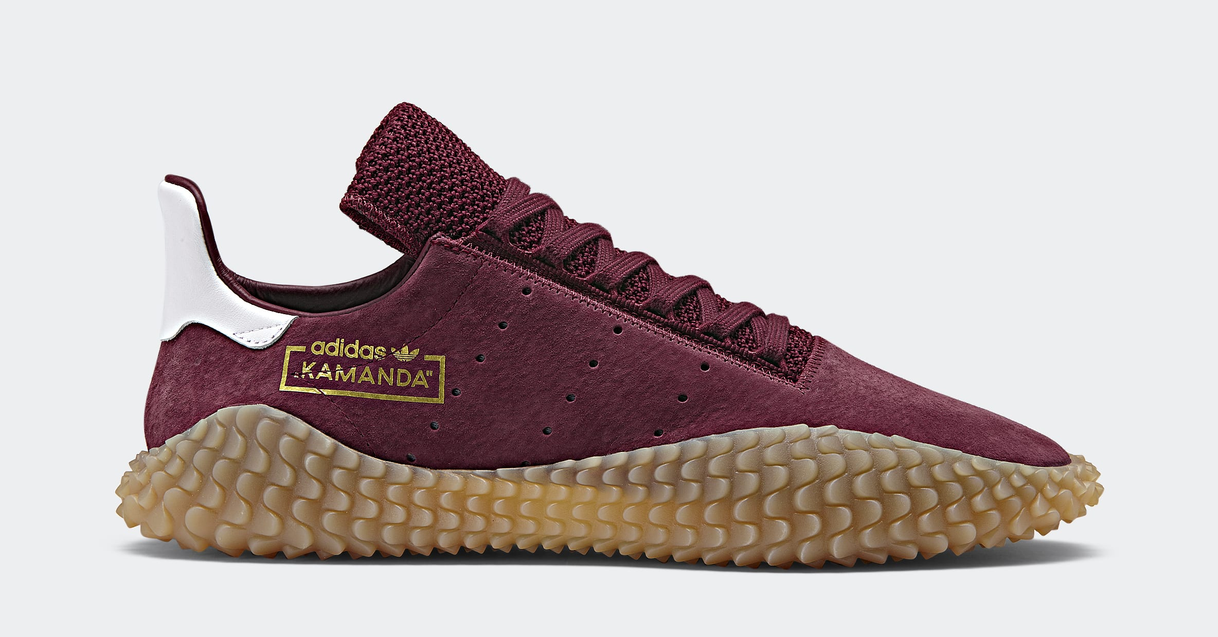 Adidas Kamanda 'Collegiate Burgundy/Gum' CQ2219 (Lateral)