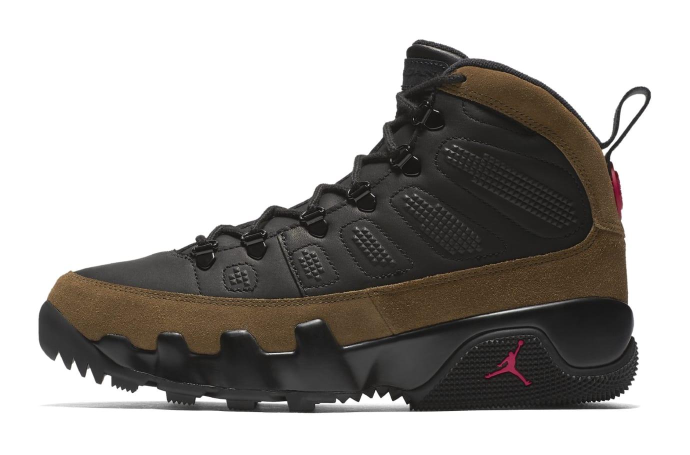 334b69bbd58724 Air Jordan 9 Boot NRG Black True Red Light Olive AO4491-012