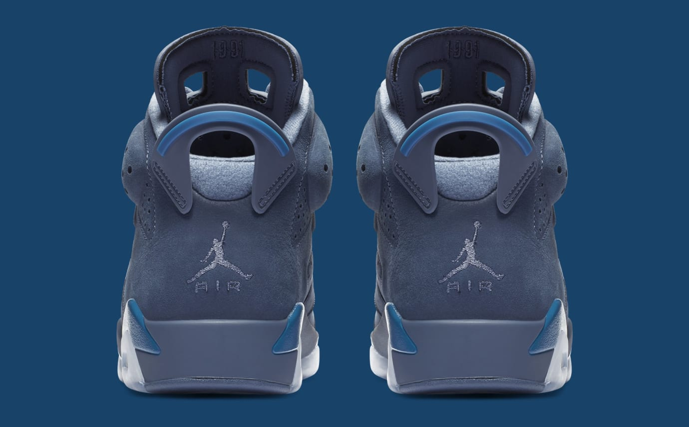 3c357aba8b92f4 Image via Nike Air Jordan 6  Diffused Blue  384664-400 (Heel)