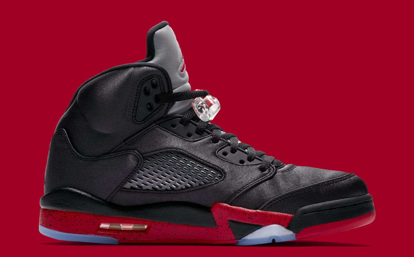 new style 2ec31 15fb1 Image via Nike Air Jordan 5 Retro  Black University Red  136027-006 (Medial)