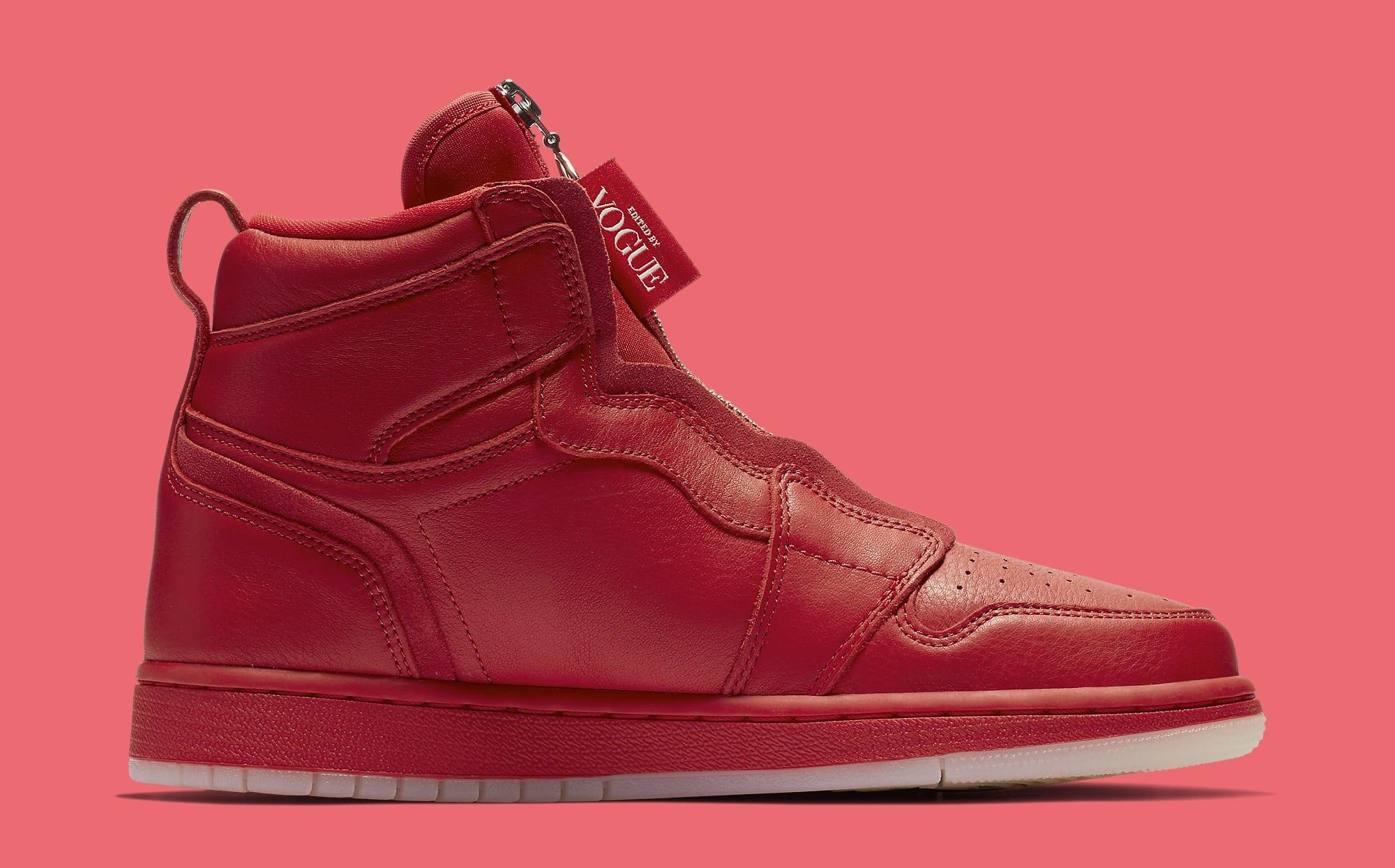 Vogue x Air Jordan 1 Zip AWOK University Red Medial