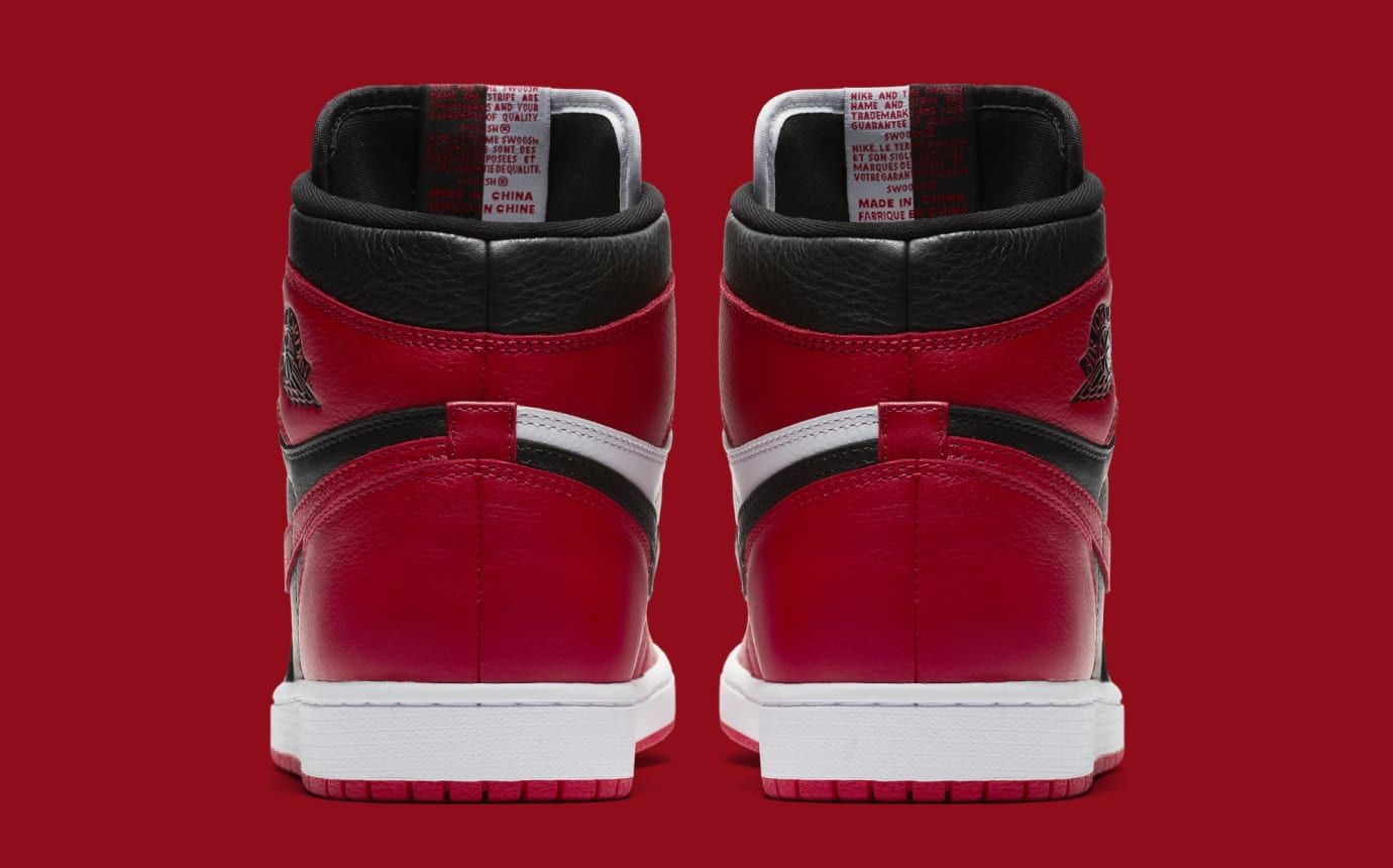 sale retailer d1c3c aab2b Image via Nike Air Jordan 1  Homage to Home  861428-061 (Heel)