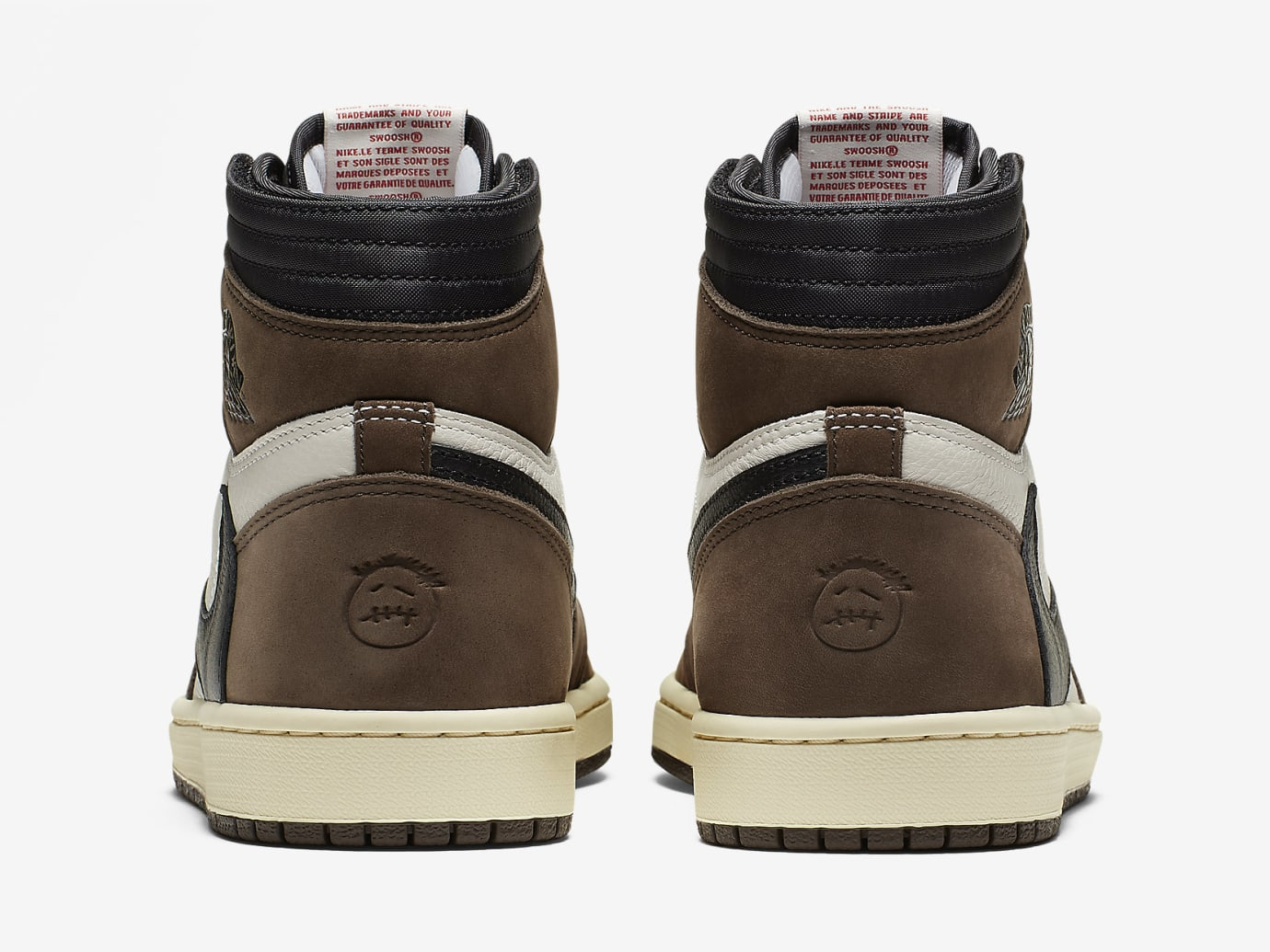 e97bf516 Image via Nike Travis Scott x Air Jordan 1 Brown Release Date CD4487-100  Heel