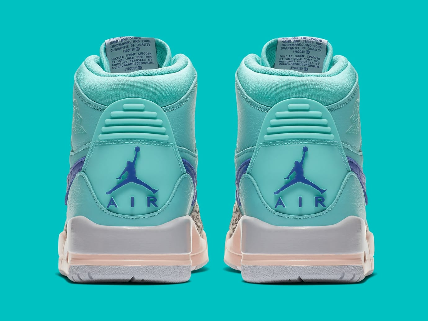 617b6d9b5f119c Image via Nike Don C x Air Jordan Legacy 312 Hyper Jade Release Date  AV3922-348 Heel