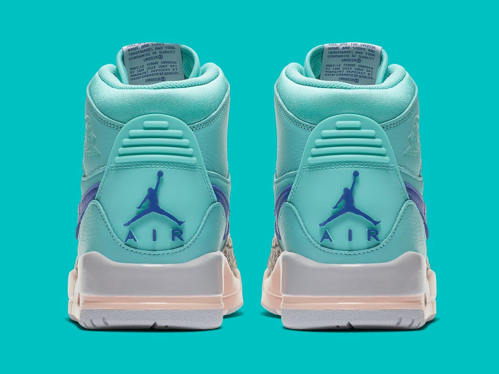 Don C x Air Jordan Legacy 312 Hyper Jade Release Date AV3922-348 Heel