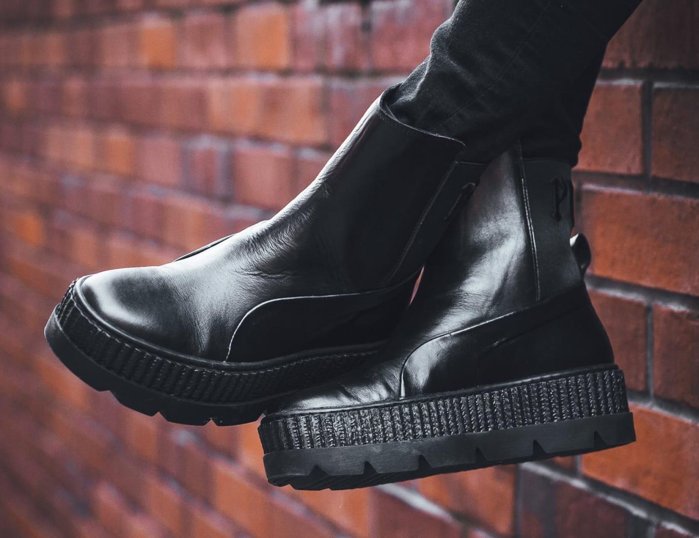 Rihanna x Puma Fenty Chelsea Sneaker Boot Black Release Date Side
