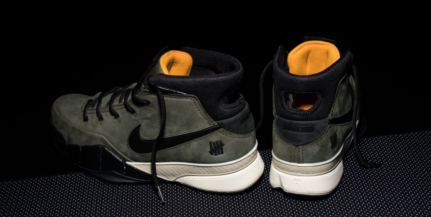 Undefeated x Nike Kobe 1 Protro 'Friends and Family' (Heel and Lateral)