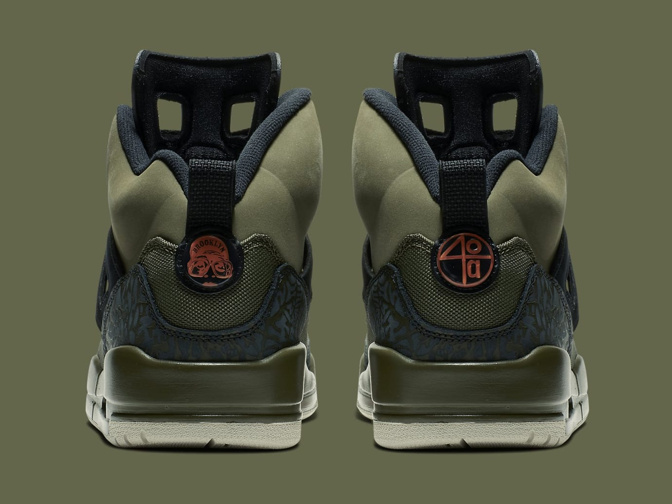 Jordan Spizike Undefeated Olive Green Release Date 315371-300 Heel