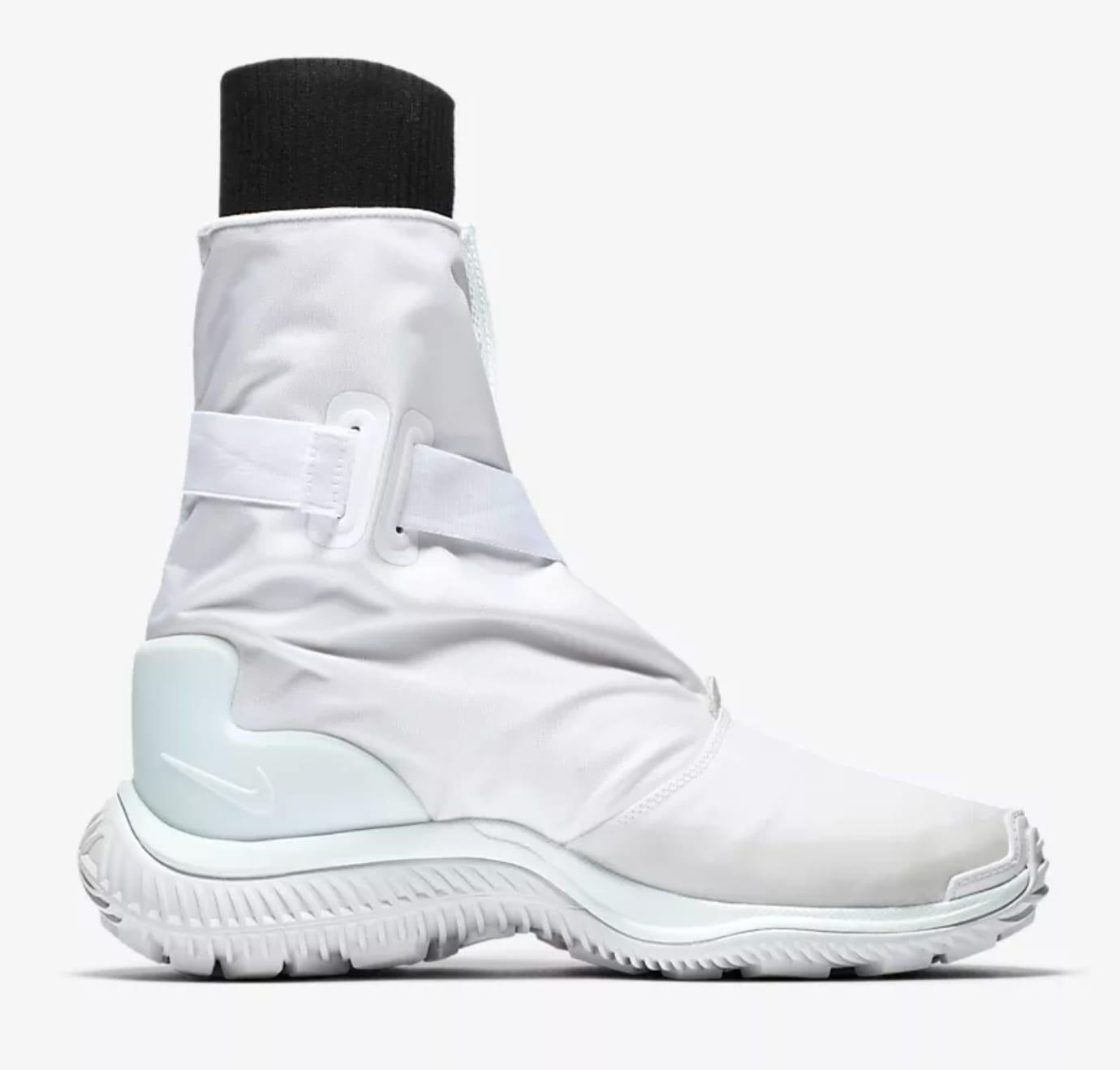 Nike Gaiter Women's Boot White/Black/Pure Platinum/Barely Green AA0528-100 (Medial)