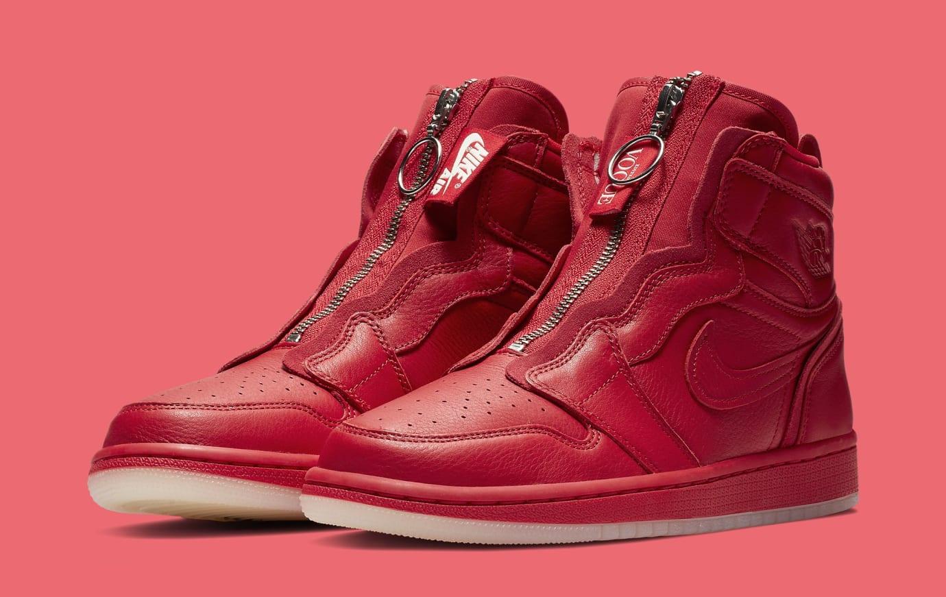 Vogue x Air Jordan 1 Zip AWOK University Red Pair