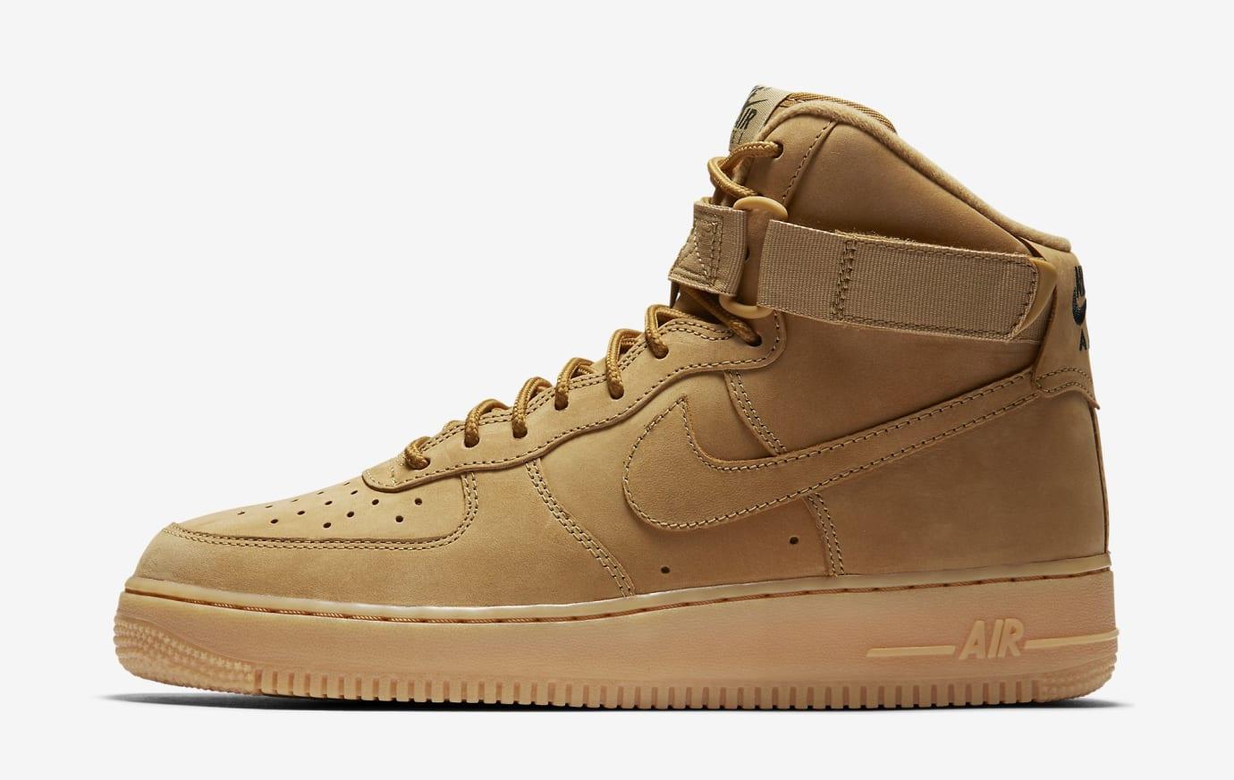 'Wheat' Nike Air Force 1 High 882096-200 (Medial)