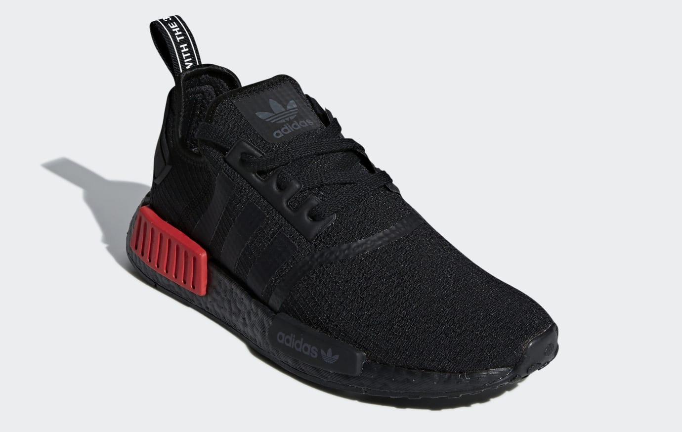 adidas NMD R1 Shoes BlackLust Red | B37618