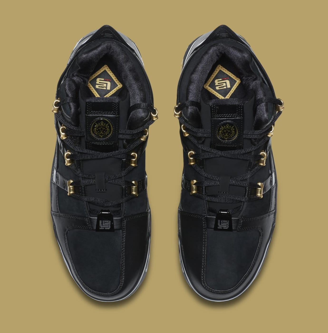 Image via Nike Nike LeBron 3  Black Gold  Retro AO2434-001 (Top) 2414c8dc5