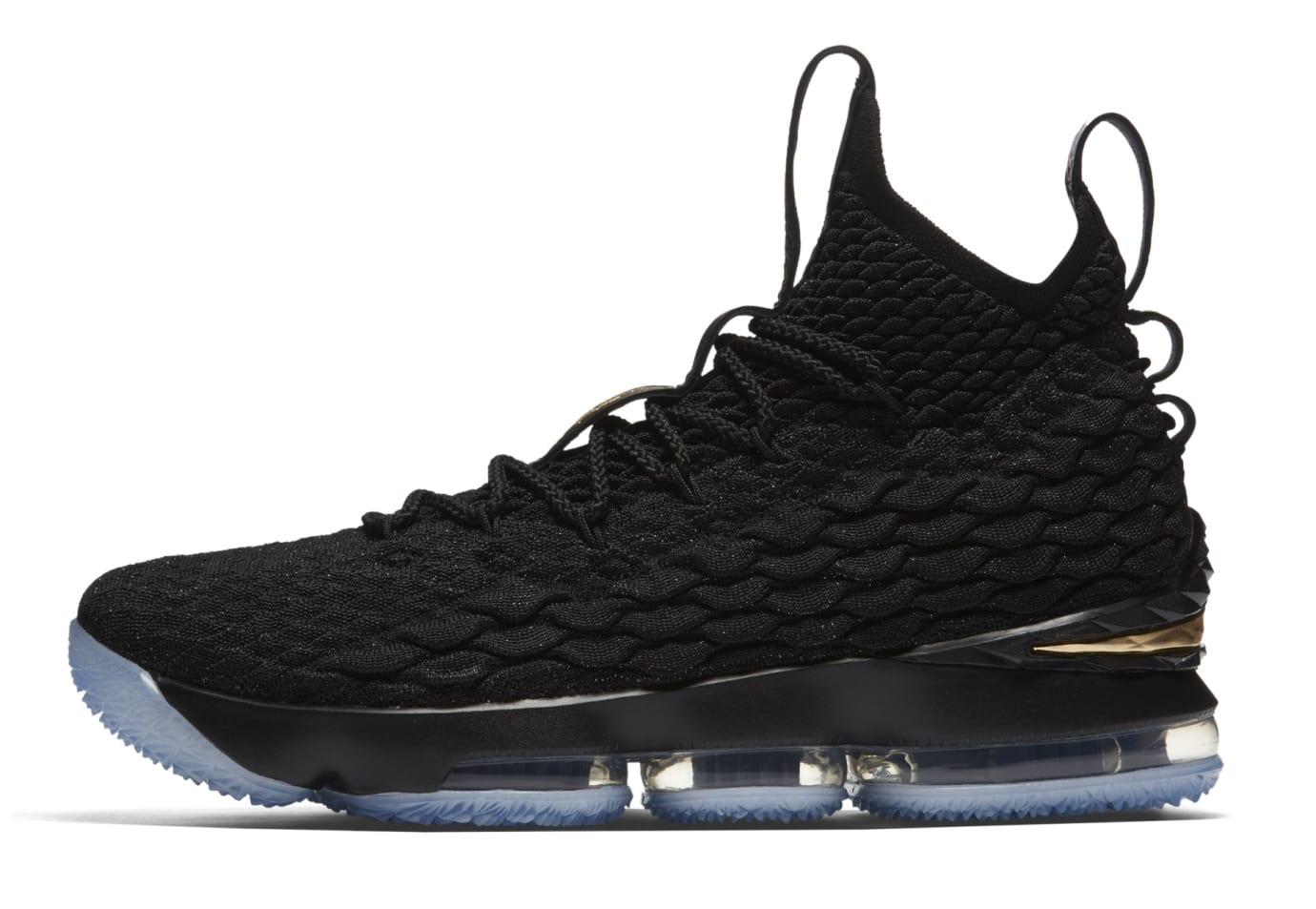 Nike LeBron 15 'Black/Gold' 897649-006 (Lateral)