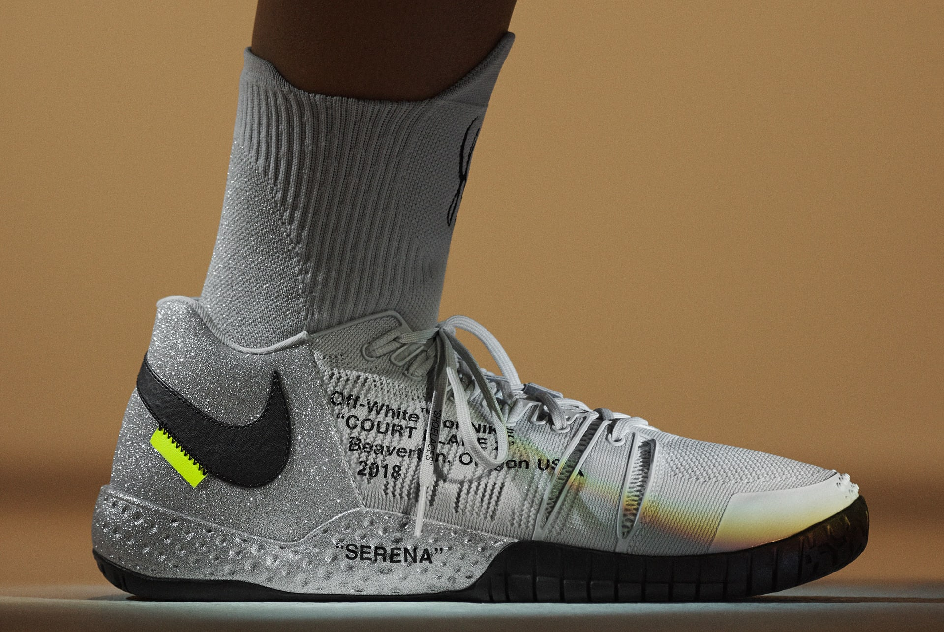 Virgil Abloh x Nike x Serena Williams Queen Collection NikeCourt Flare 2 (lateral)