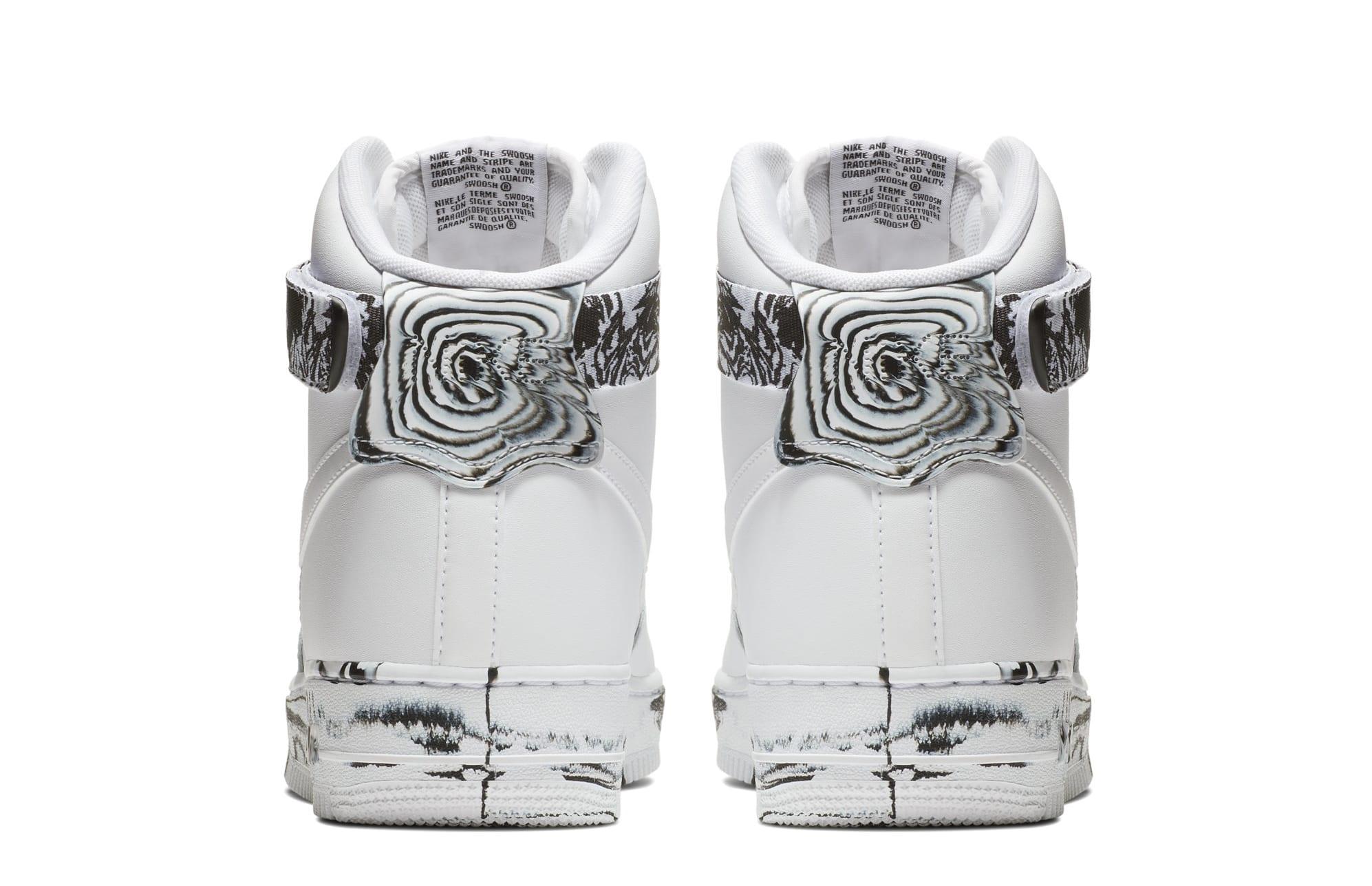 Nike Air Force 1 High 'White/Black/White' AT3293-100 (Heel)