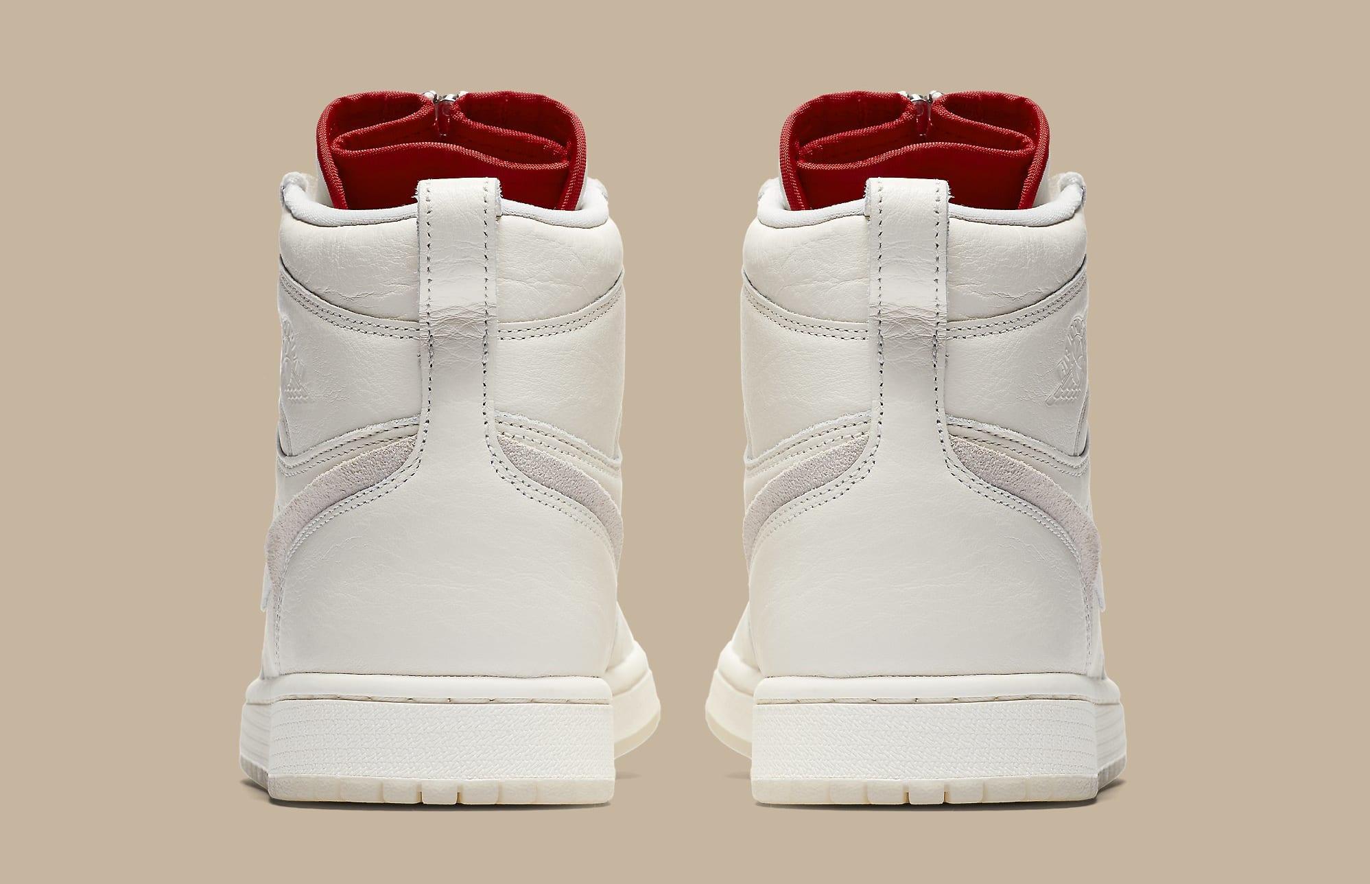 huge discount bd89c ef6f8 Picture by way of Nike Vogue x Air Jordan 1 Zip AWOK Sail Heel
