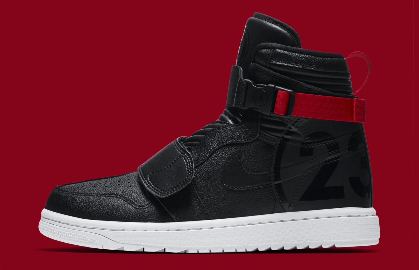 Air Jordan 1 Motorsports 'Black/Red' AT3146-001 (Lateral)