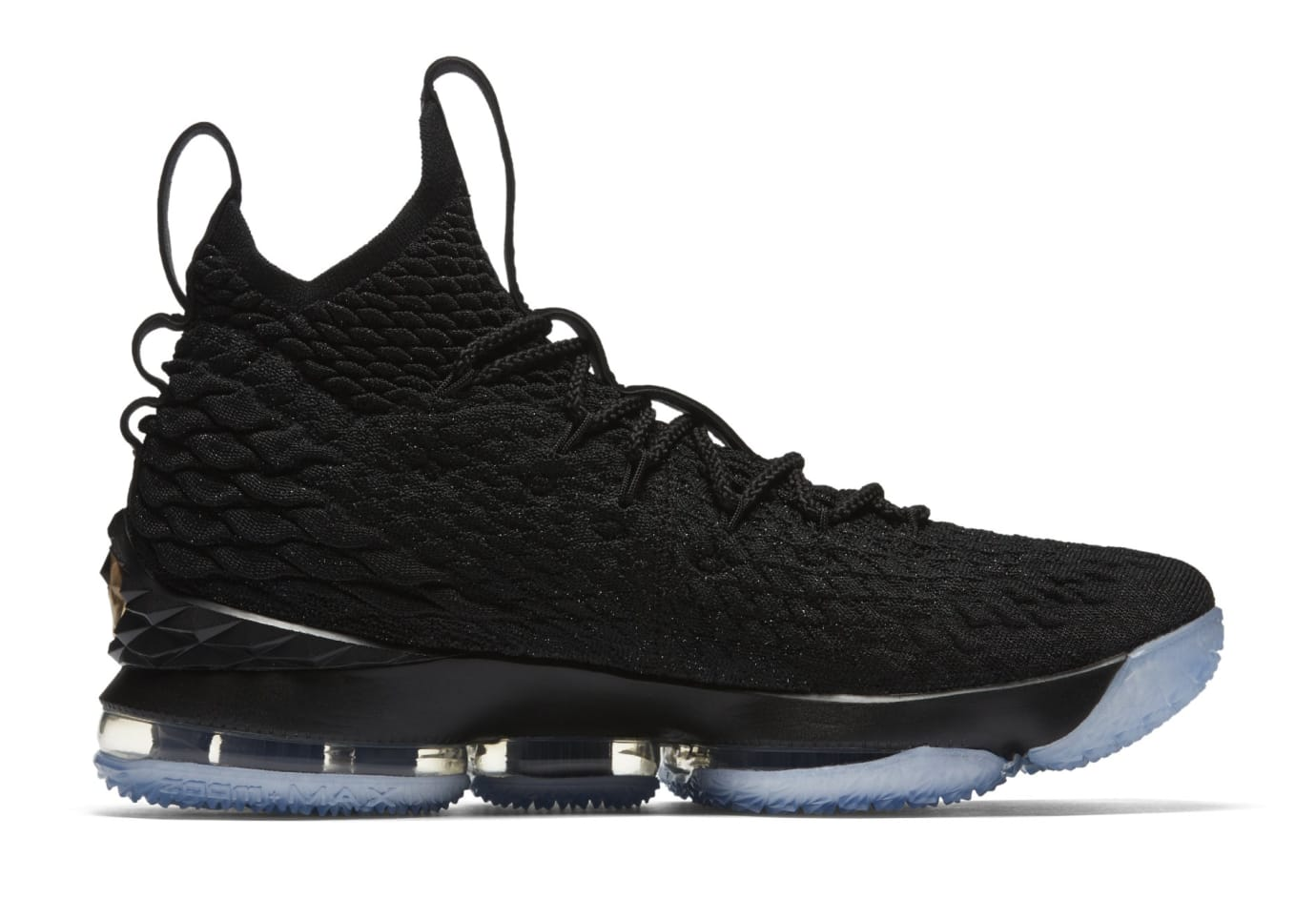 Nike LeBron 15 'Black/Gold' 897649-006 (Medial)
