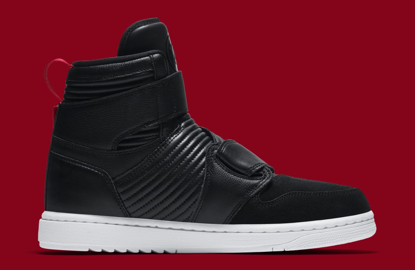 Air Jordan 1 Motorsports 'Black/Red' AT3146-001 (Medial)