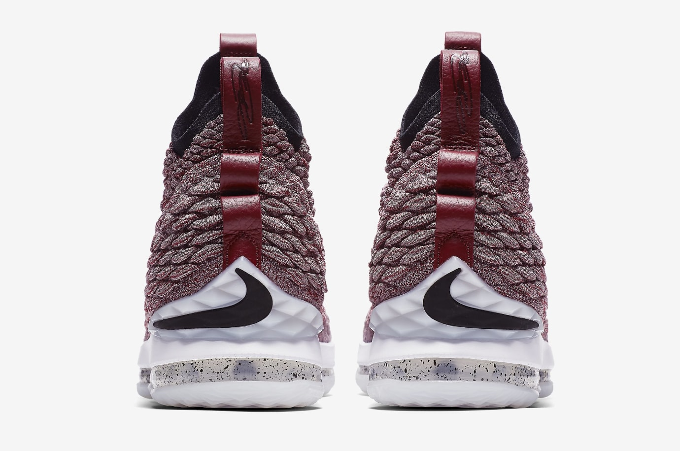 9c4fa48bd2dfed Image via Nike Nike LeBron 15  Wine  897649-201 (Heel)