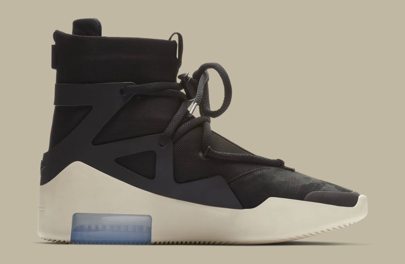 Nike Air Fear of God 1 'Black' AR4237-001 (Medial)