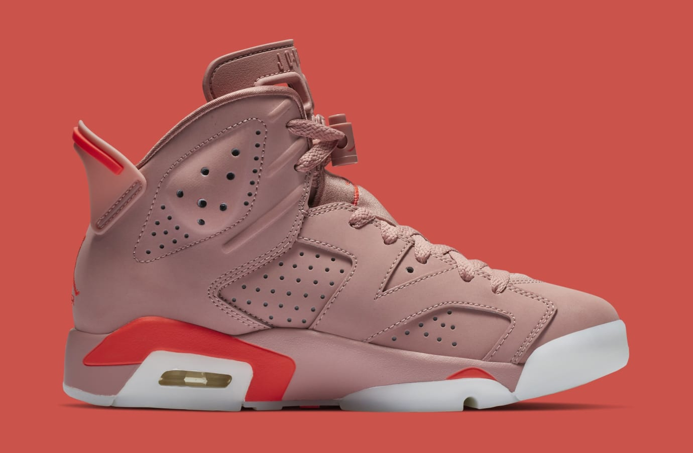 Aleali May x Air Jordan 6 'Rust Pink/Bright Crimson' CI0550-600 (Medial)