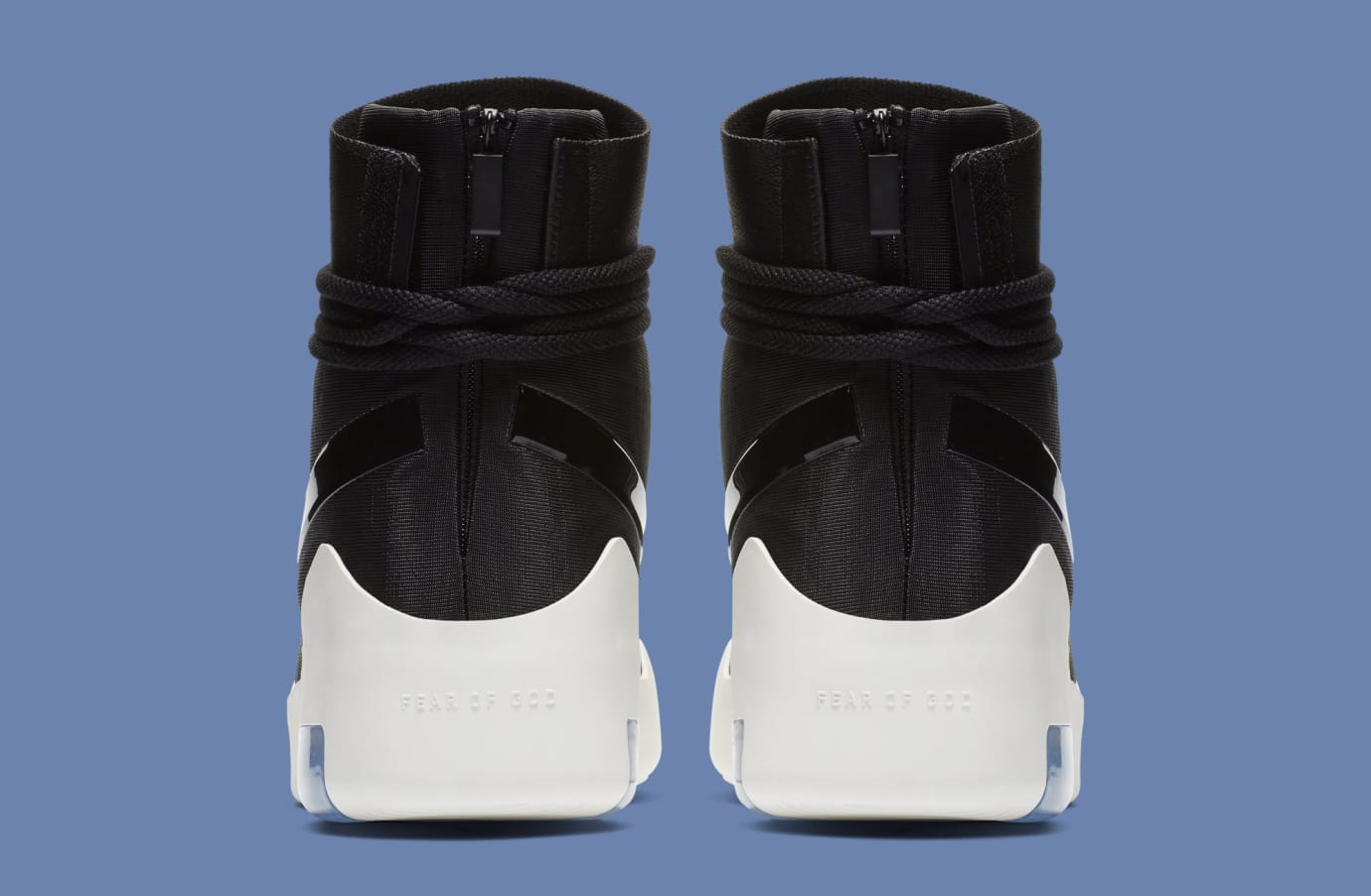 Nike Air Fear of God Shoot Around 'Black' AT9915-001 (Heel)