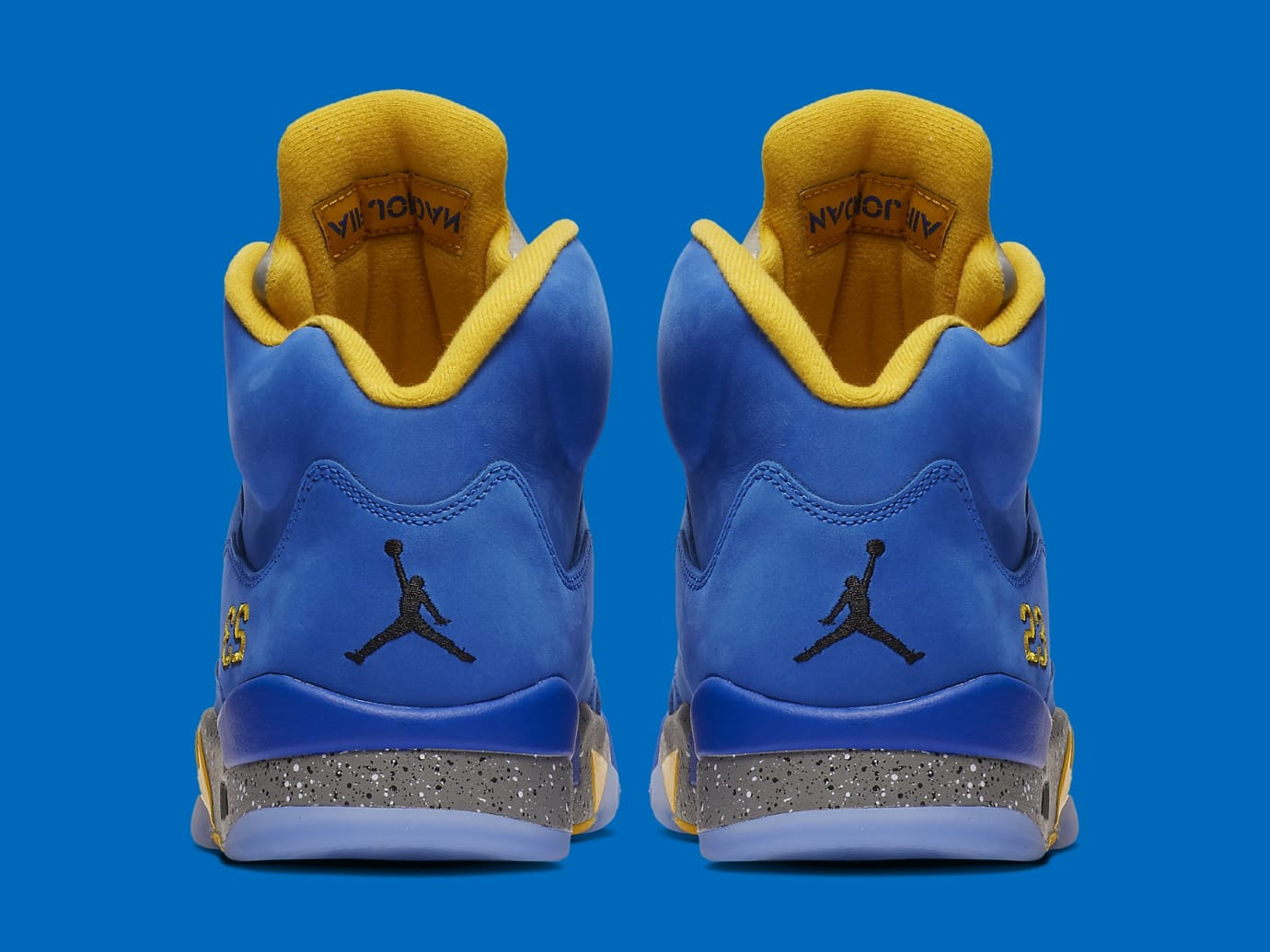 Air Jordan 5 Laney Blue Release Date CD2720-400 Heel