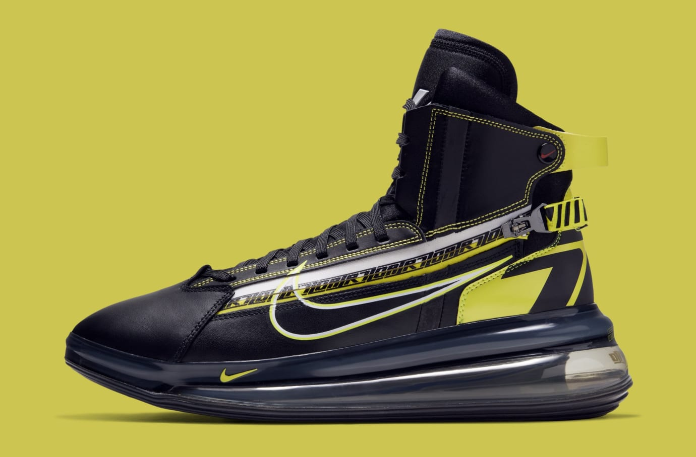 17ac14bea624 Nike Air Max 720 Saturn  Black Dynamic Yellow-University Red  BV7786 ...