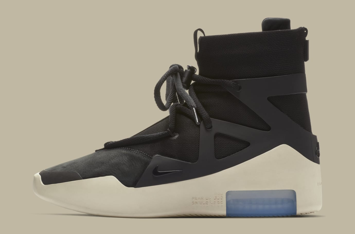 Nike Air Fear of God 1 'Black' AR4237-001 (Lateral)
