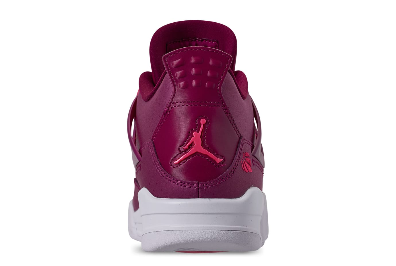 db5965f6196 Image via Finish Line Air Jordan 4 Retro GS  True Berry Rush Pink White   487724-