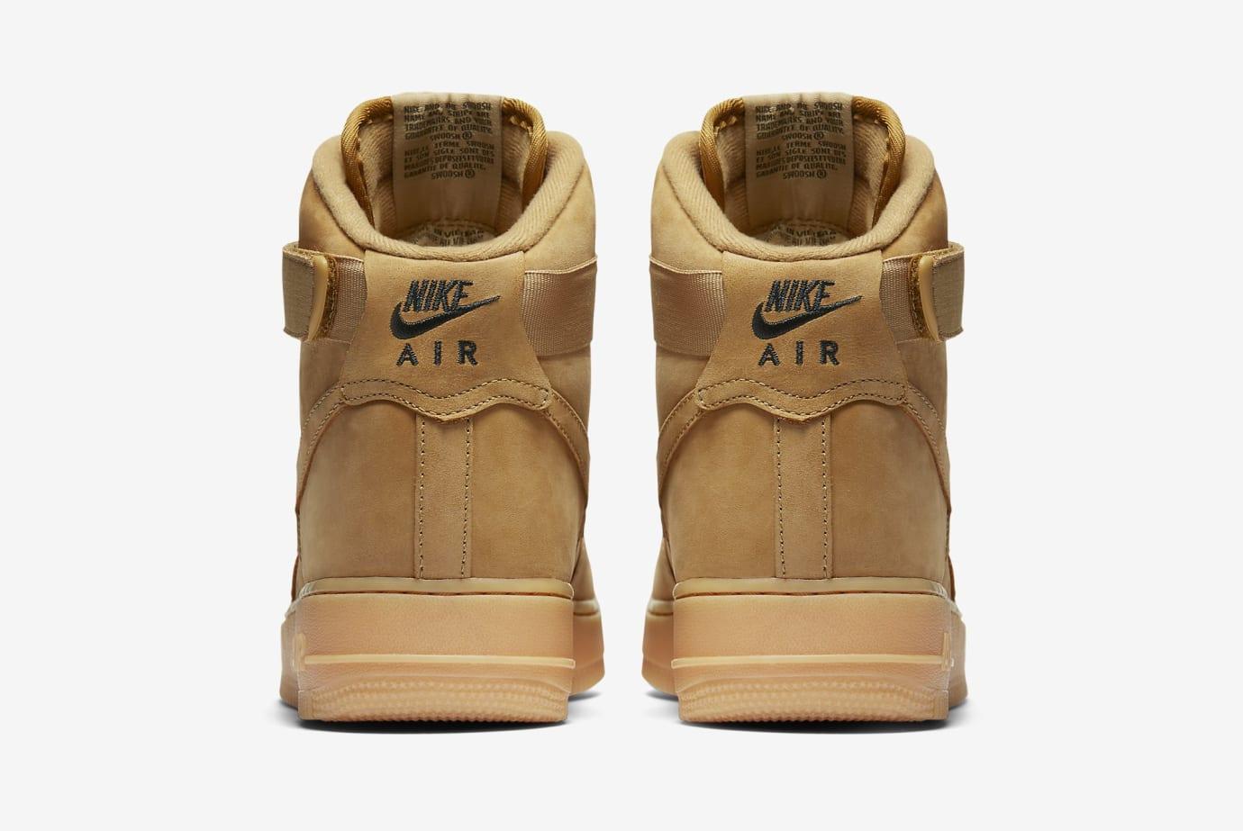 'Wheat' Nike Air Force 1 High 882096-200 (Heel)