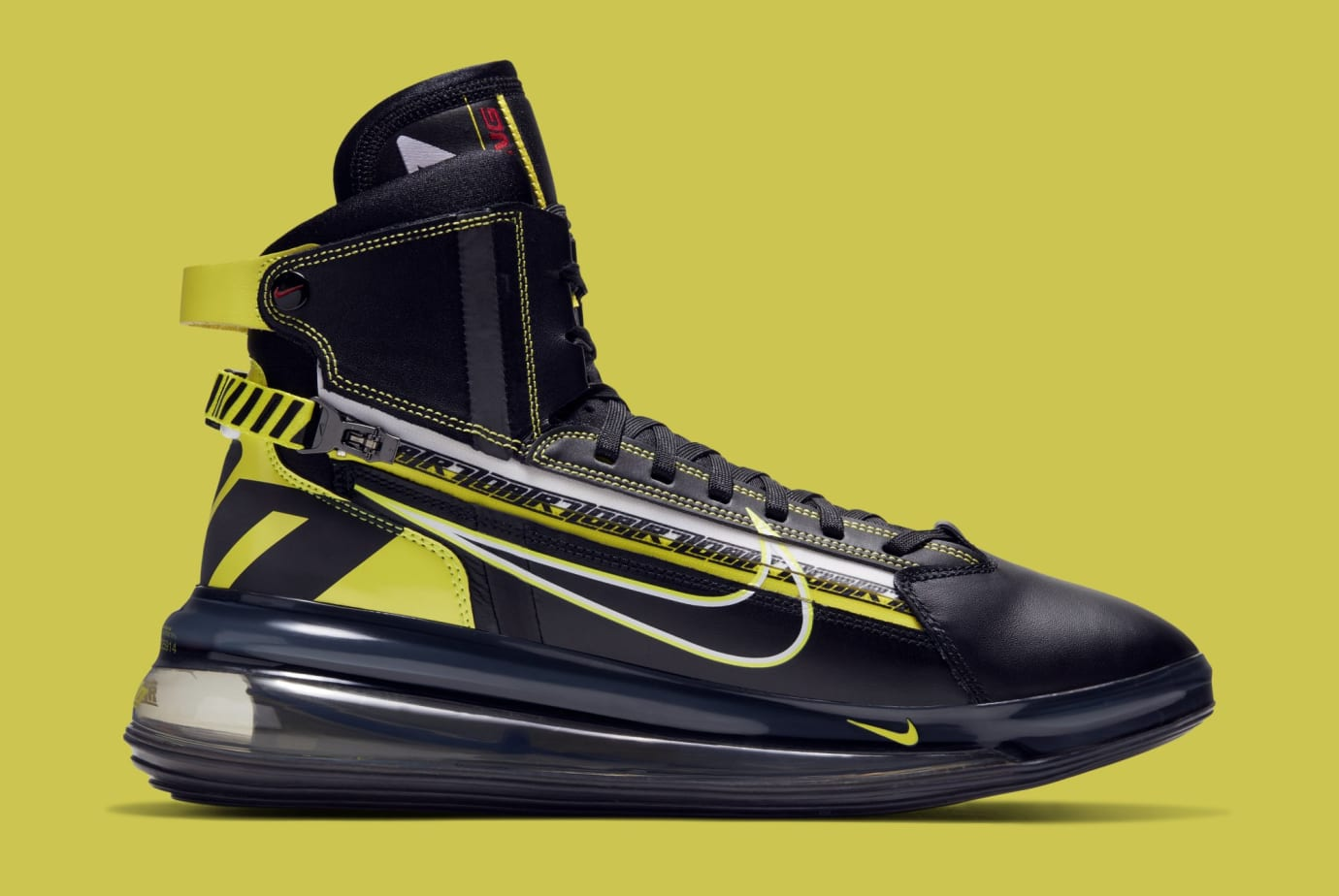 91bc26e76b3e Image via Nike Nike Air Max 720 Saturn  Black Dynamic Yellow-University  Red  BV7786-