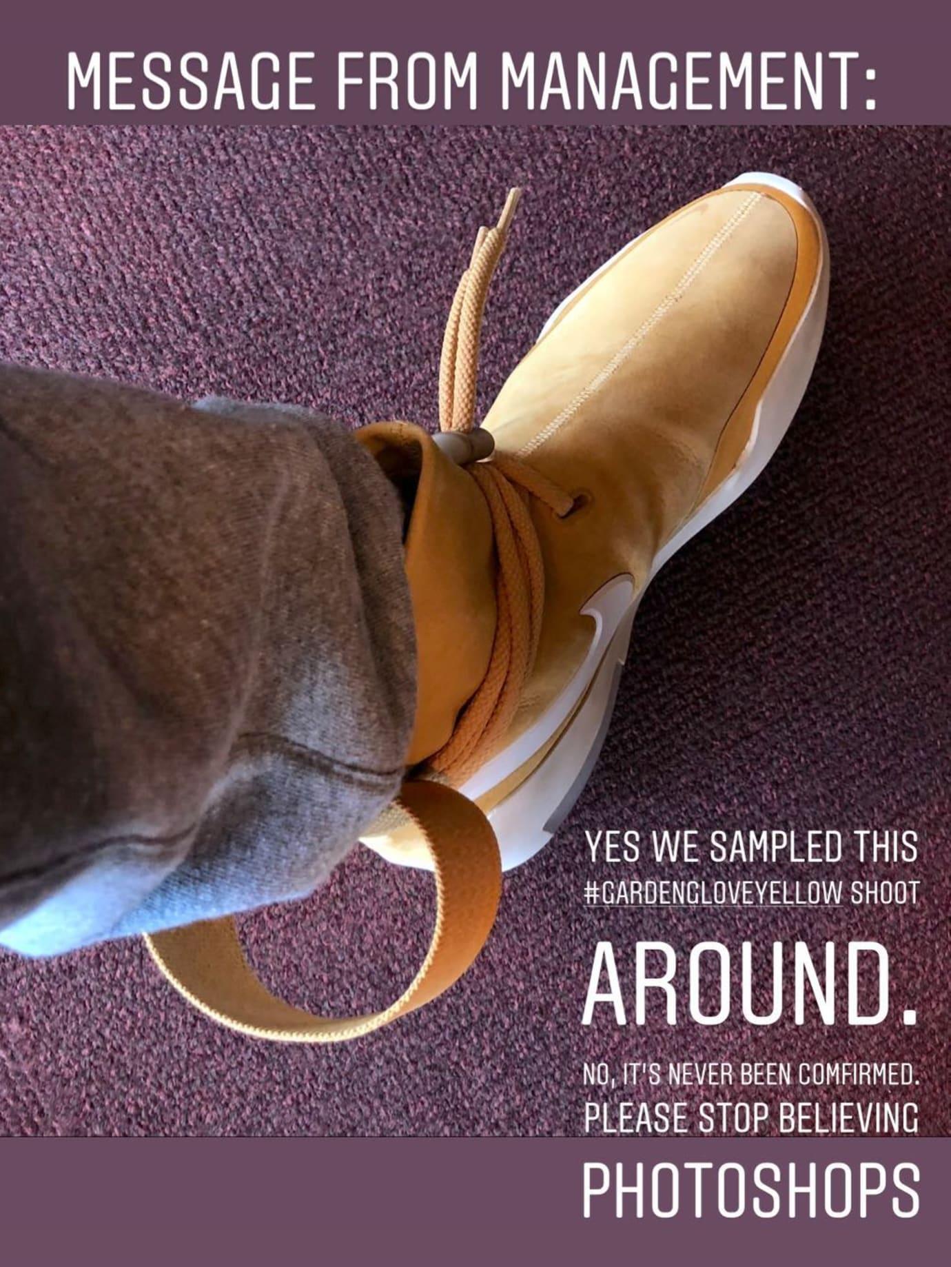 """Jerry Lorenzo Denies Rumors Of """"Wheat"""" Nike Air Fear Of God SA"""