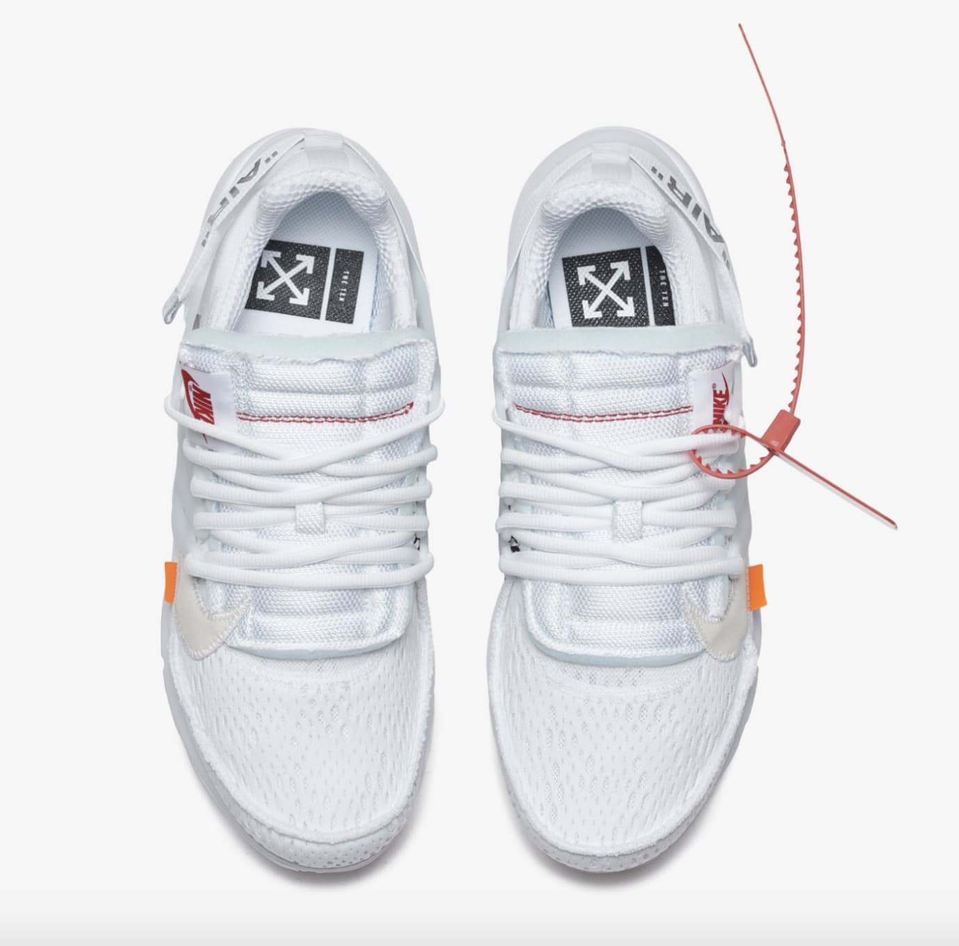 Off-White x Nike Air Presto 'Polar Opposites/White' AA3830-100 (Top)