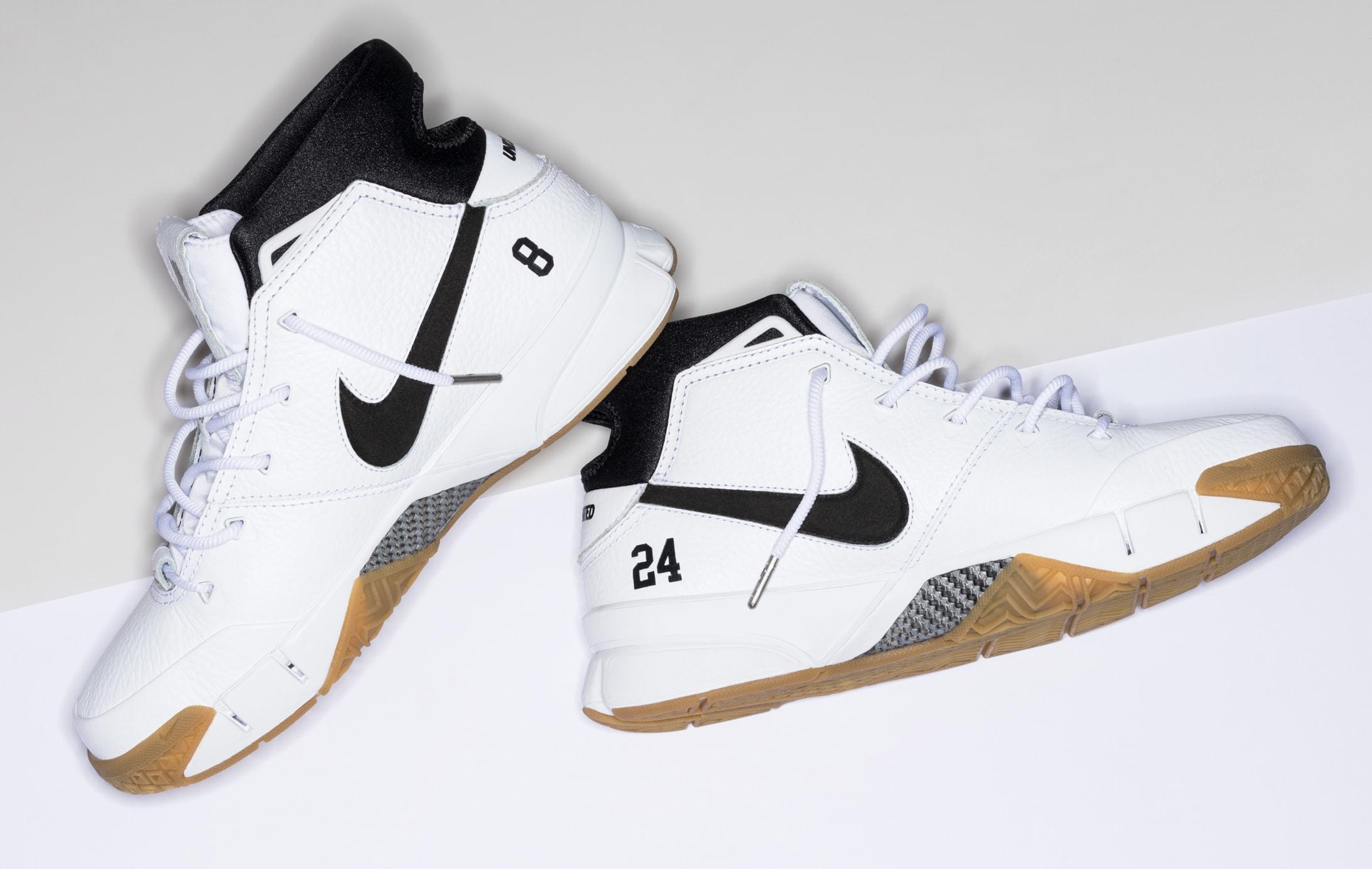 Undefeated x Nike Kobe 1 Protro 'White/Gum' 3